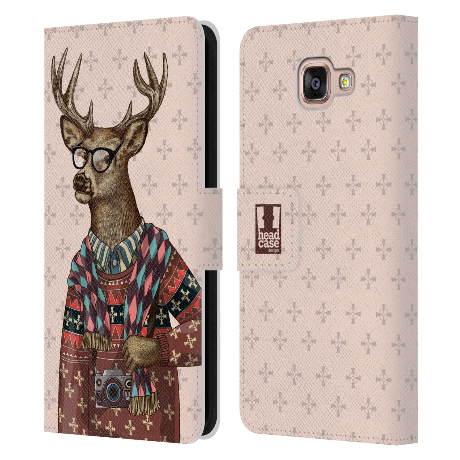 head case animali alla moda cover a portafoglio per