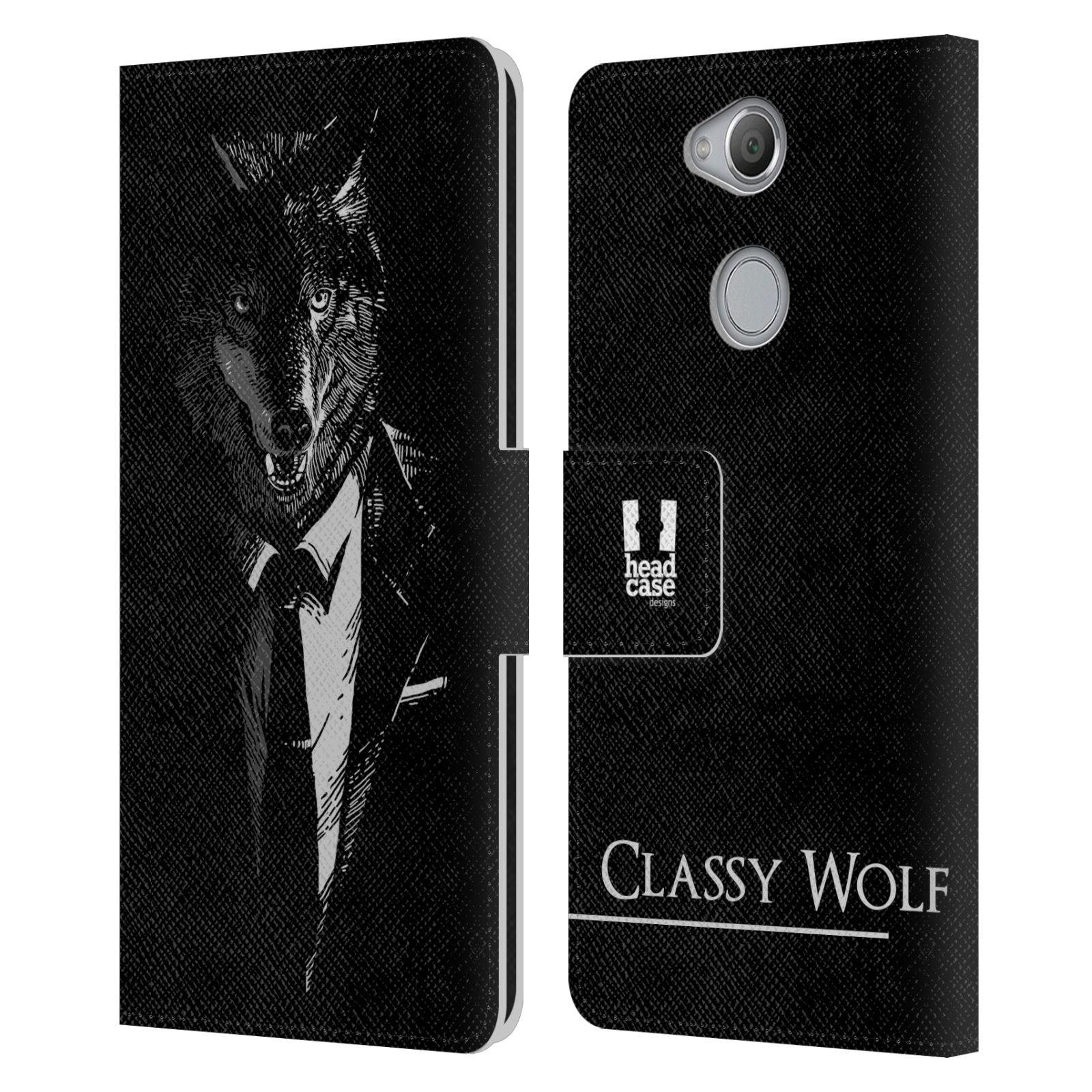 Pouzdro na mobil Sony Xperia XA2 - Head Case - vlk v obleku