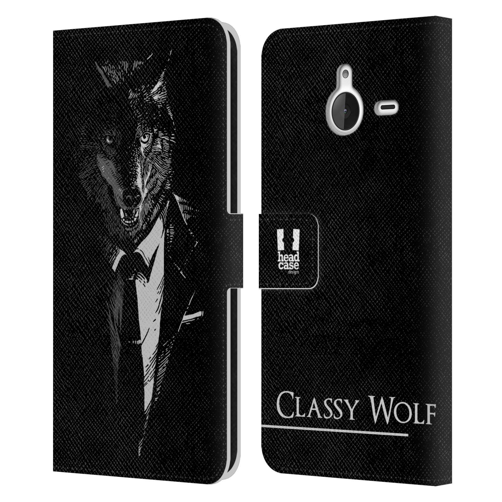 Pouzdro na mobil Nokia Lumia 640 XL - Head Case - vlk v obleku