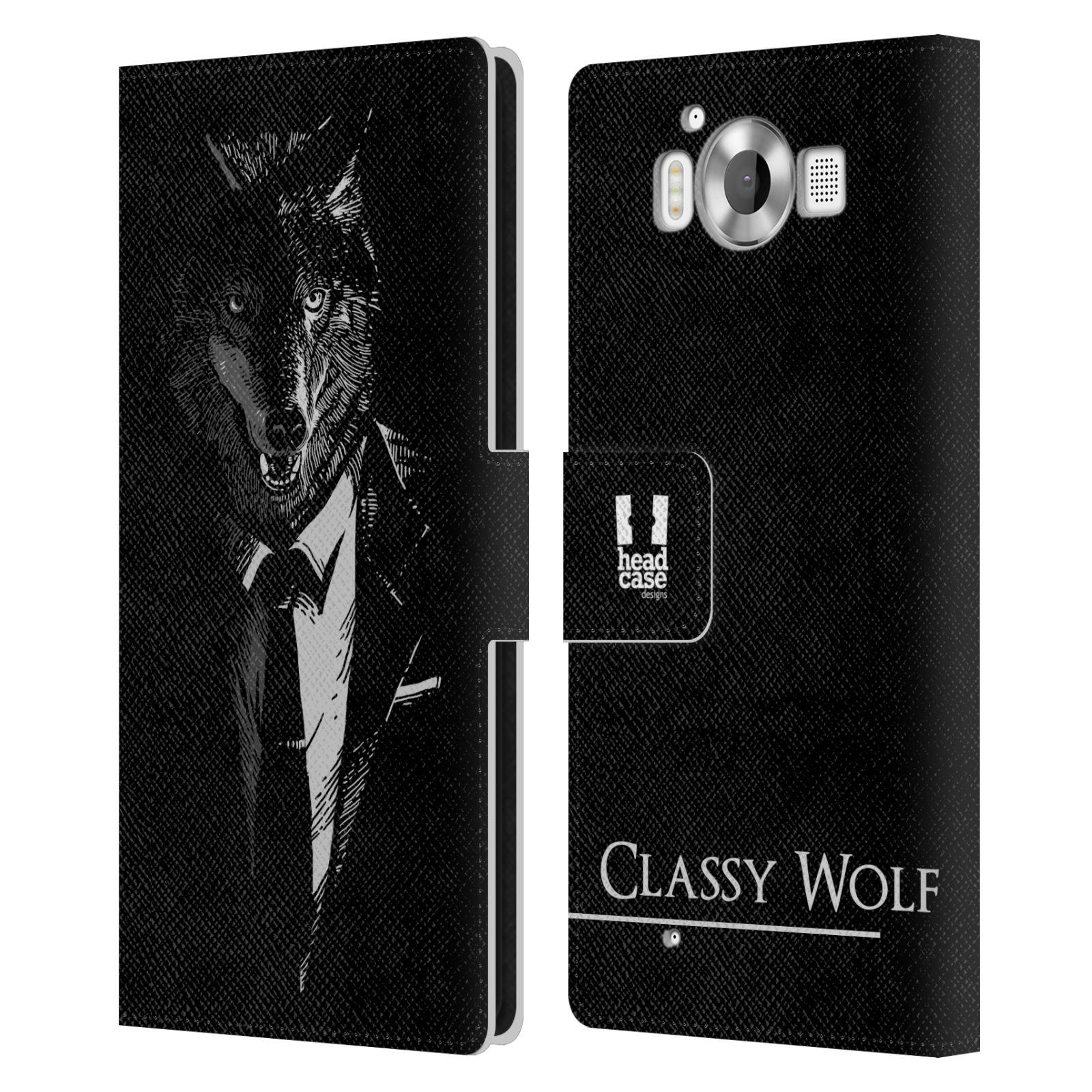 Pouzdro na mobil Nokia Lumia 950 - Head Case - vlk v obleku