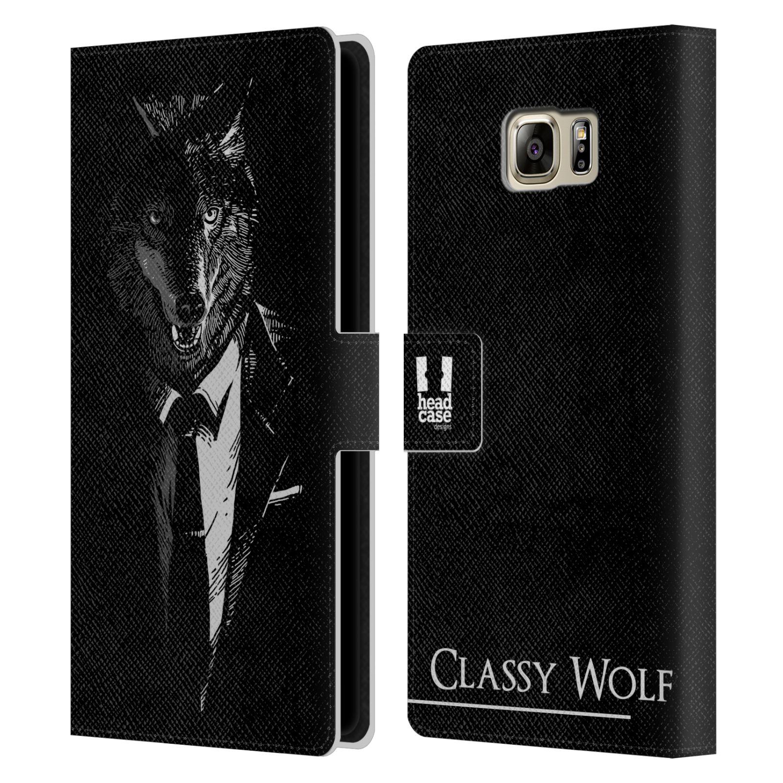 Pouzdro na mobil Samsung Galaxy NOTE 5 - Head Case - vlk v obleku