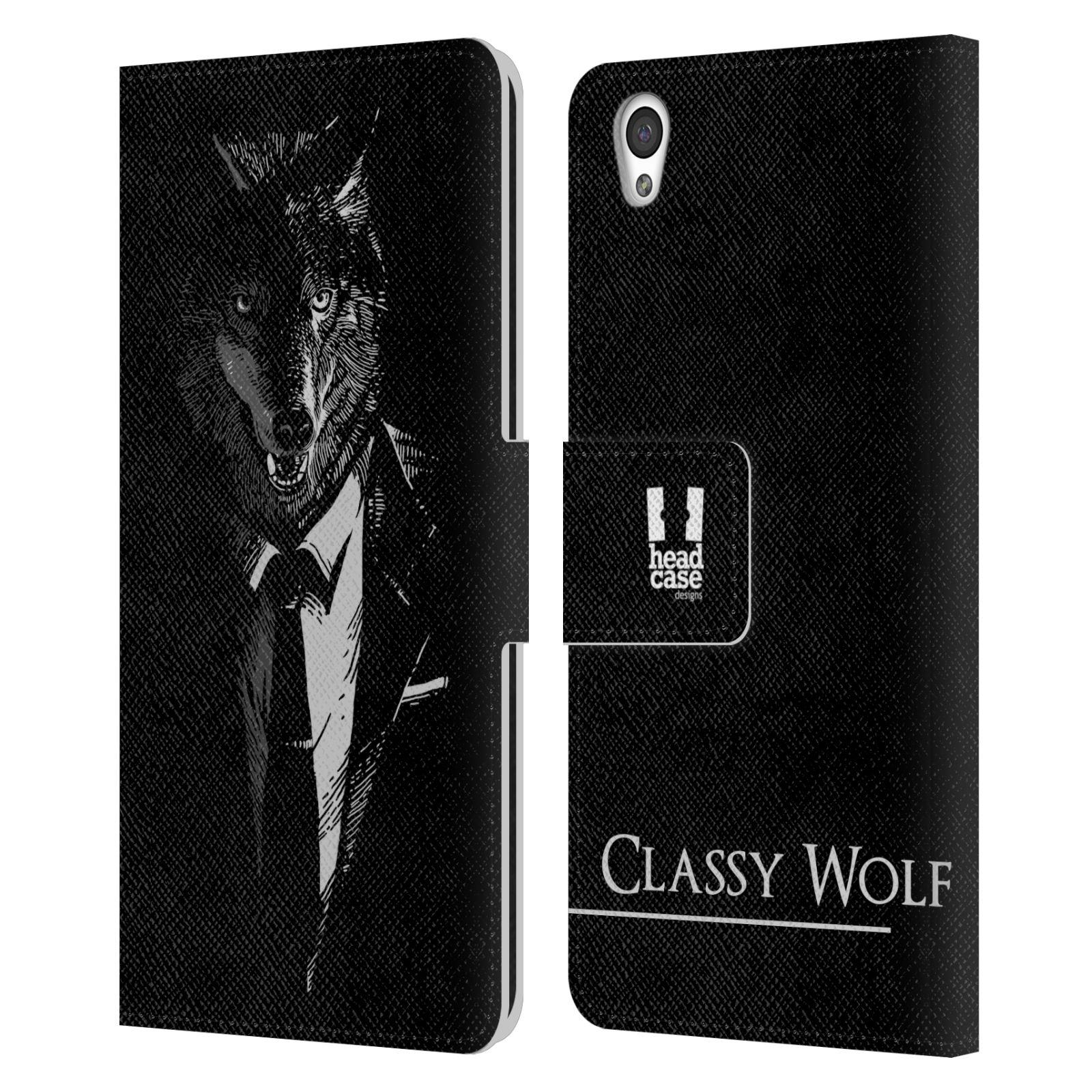Pouzdro na mobil OnePlus X - Head Case - vlk v obleku