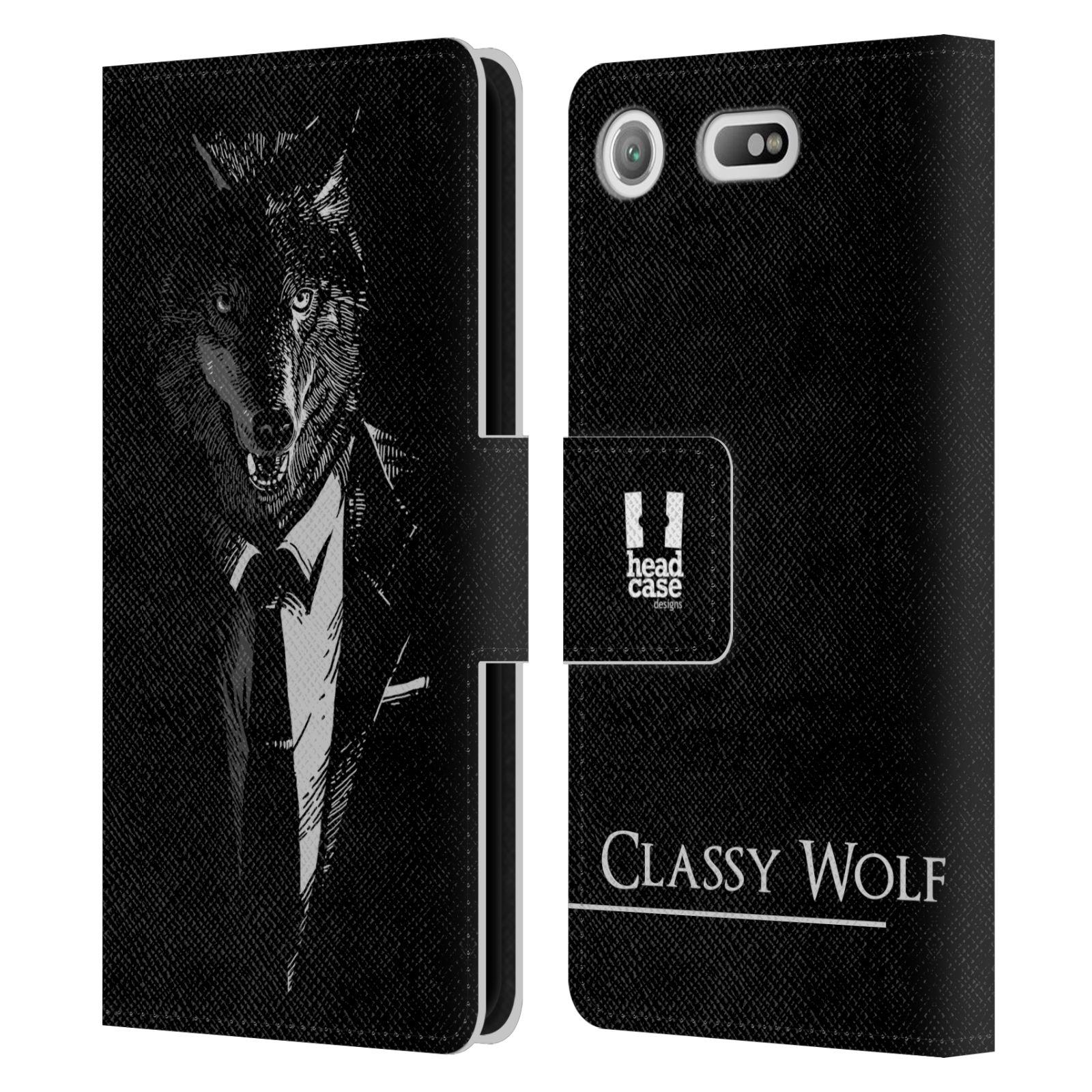 Pouzdro na mobil Sony Xperia XZ1 Compact - Head Case - vlk v obleku