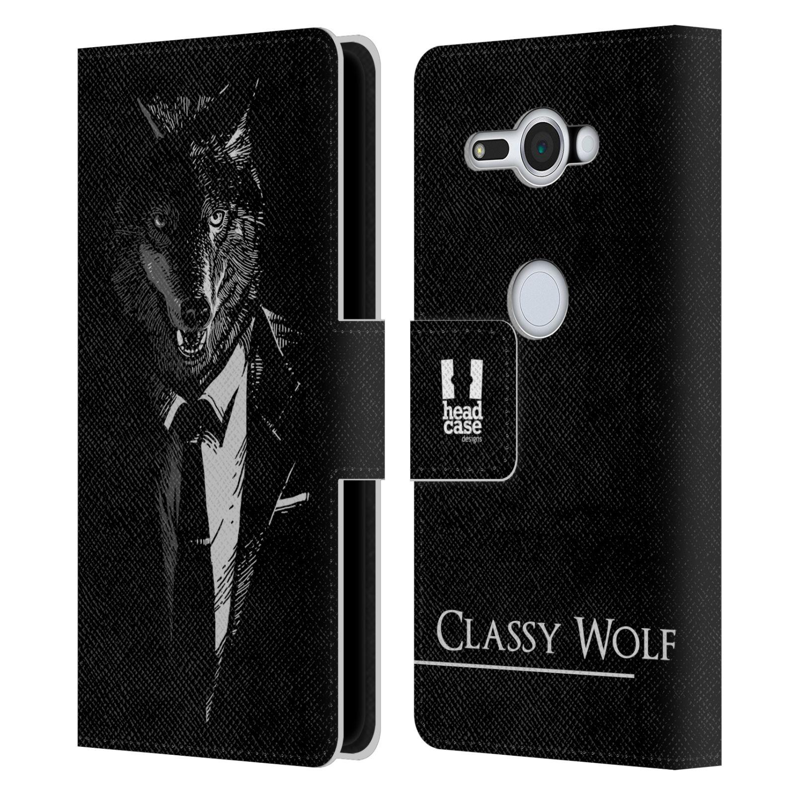 Pouzdro na mobil Sony Xperia XZ2 Compact - Head Case - vlk v obleku