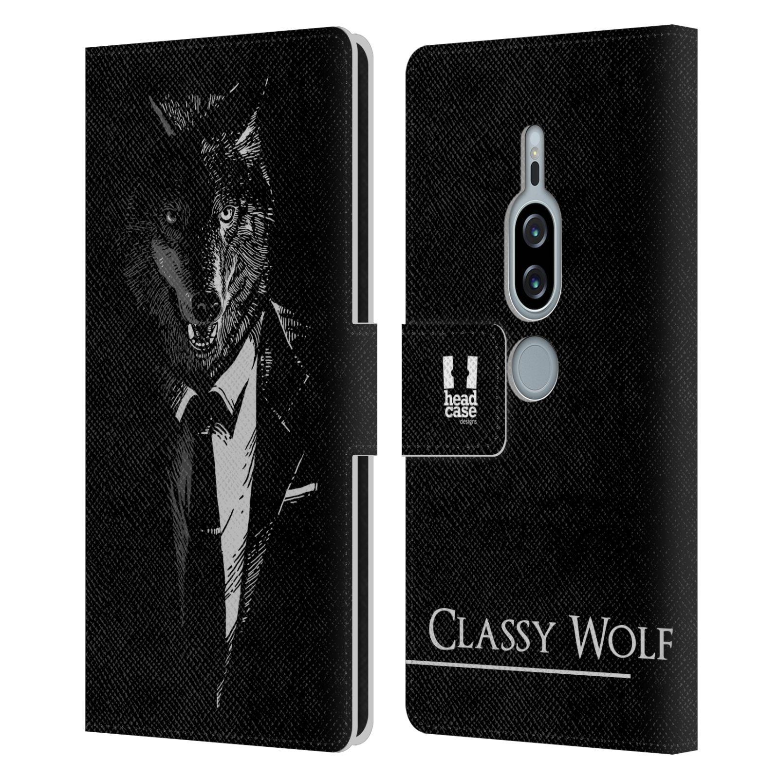 Pouzdro na mobil Sony Xperia XZ2 Premium - Head Case - vlk v obleku