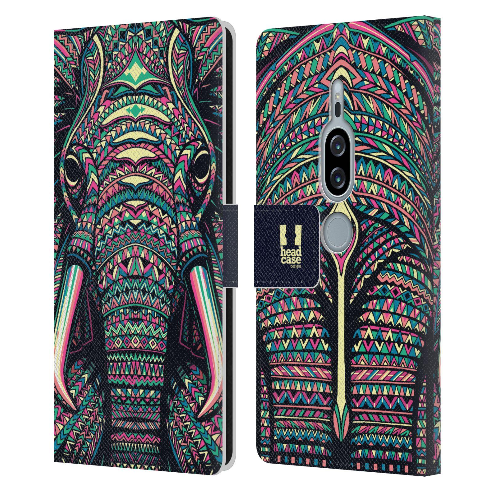 Pouzdro na mobil Sony Xperia XZ2 Premium - Head Case - Aztécký slon