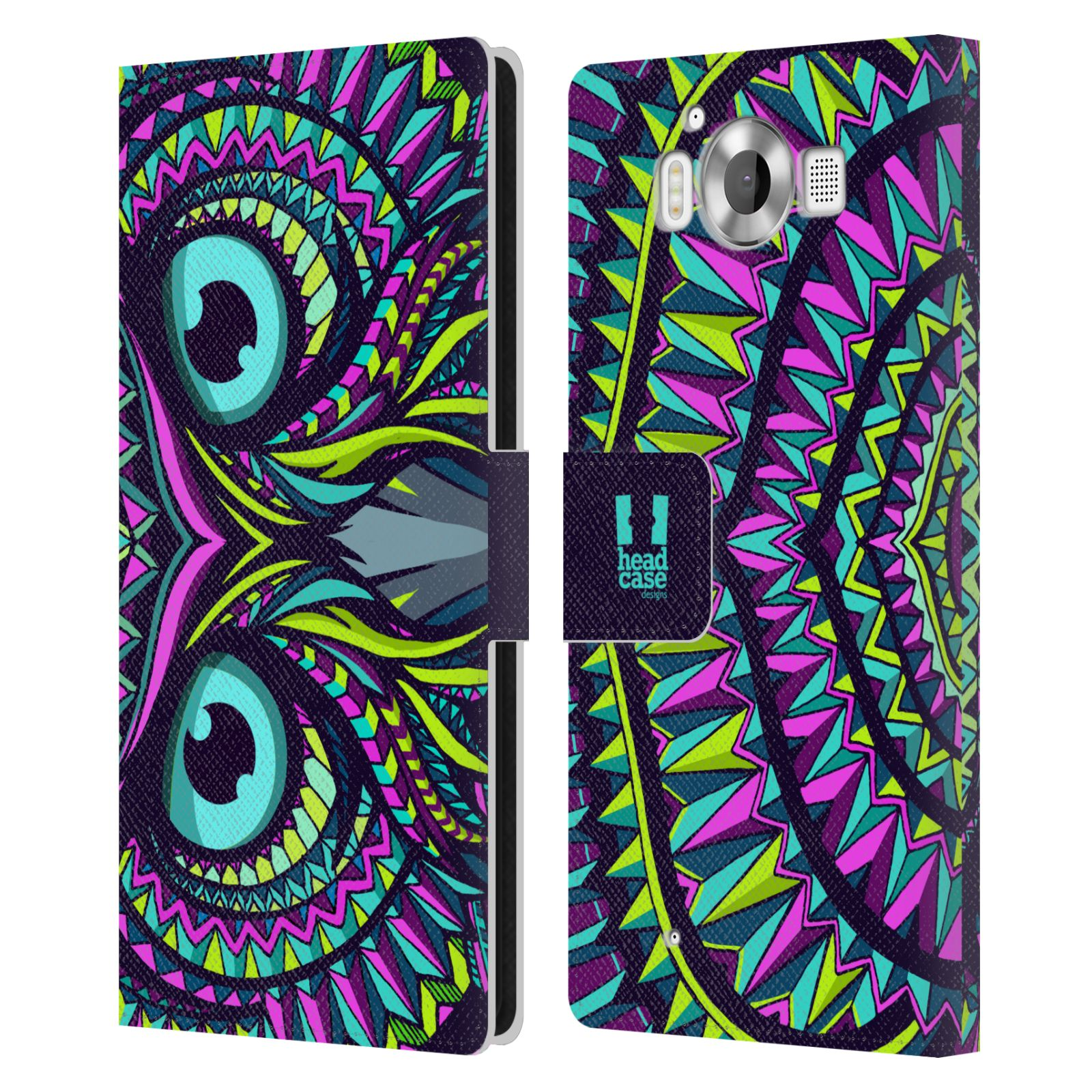 Pouzdro na mobil Nokia Lumia 950 - Head Case - Aztécký vzor sova