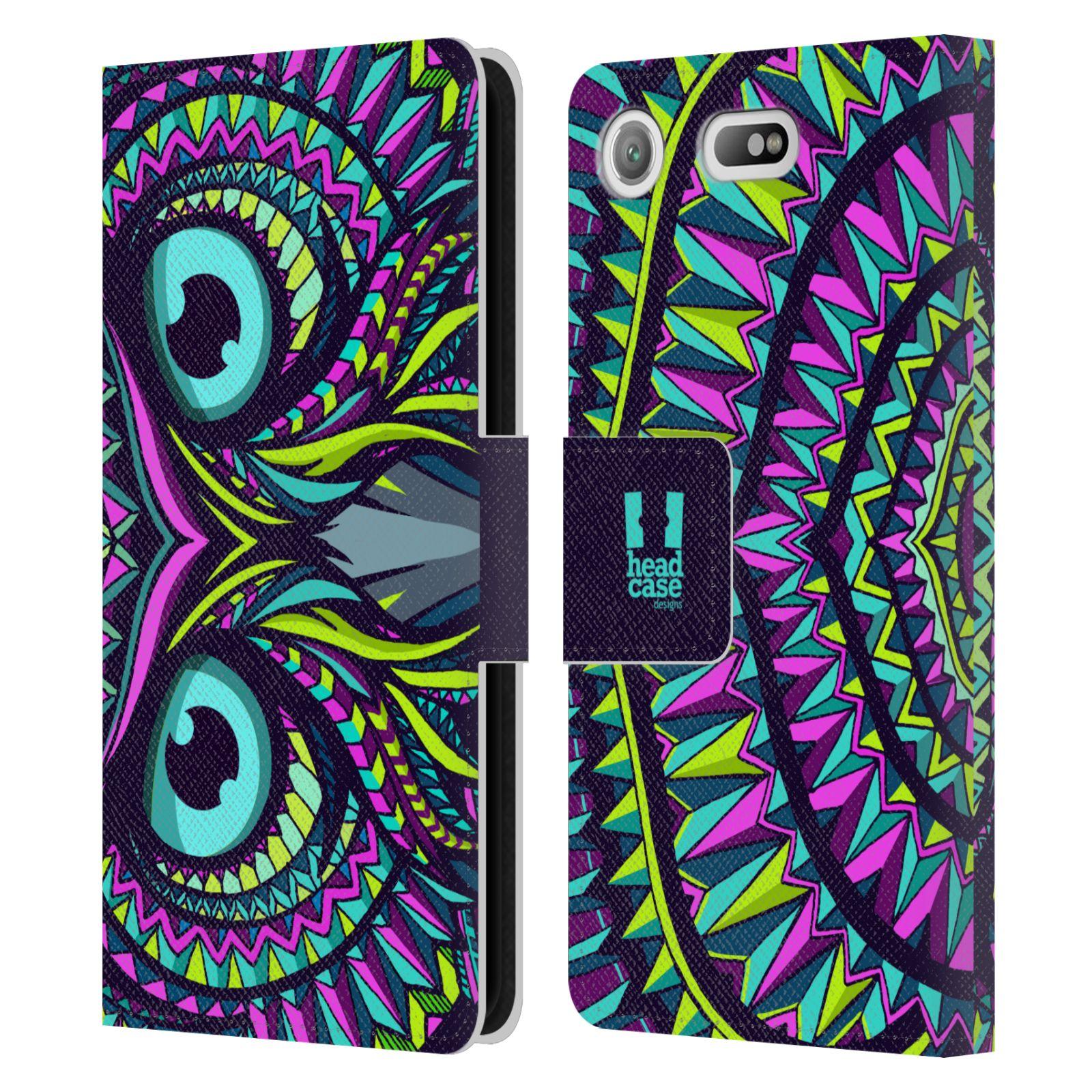 Pouzdro na mobil Sony Xperia XZ1 Compact - Head Case - Aztécký vzor sova