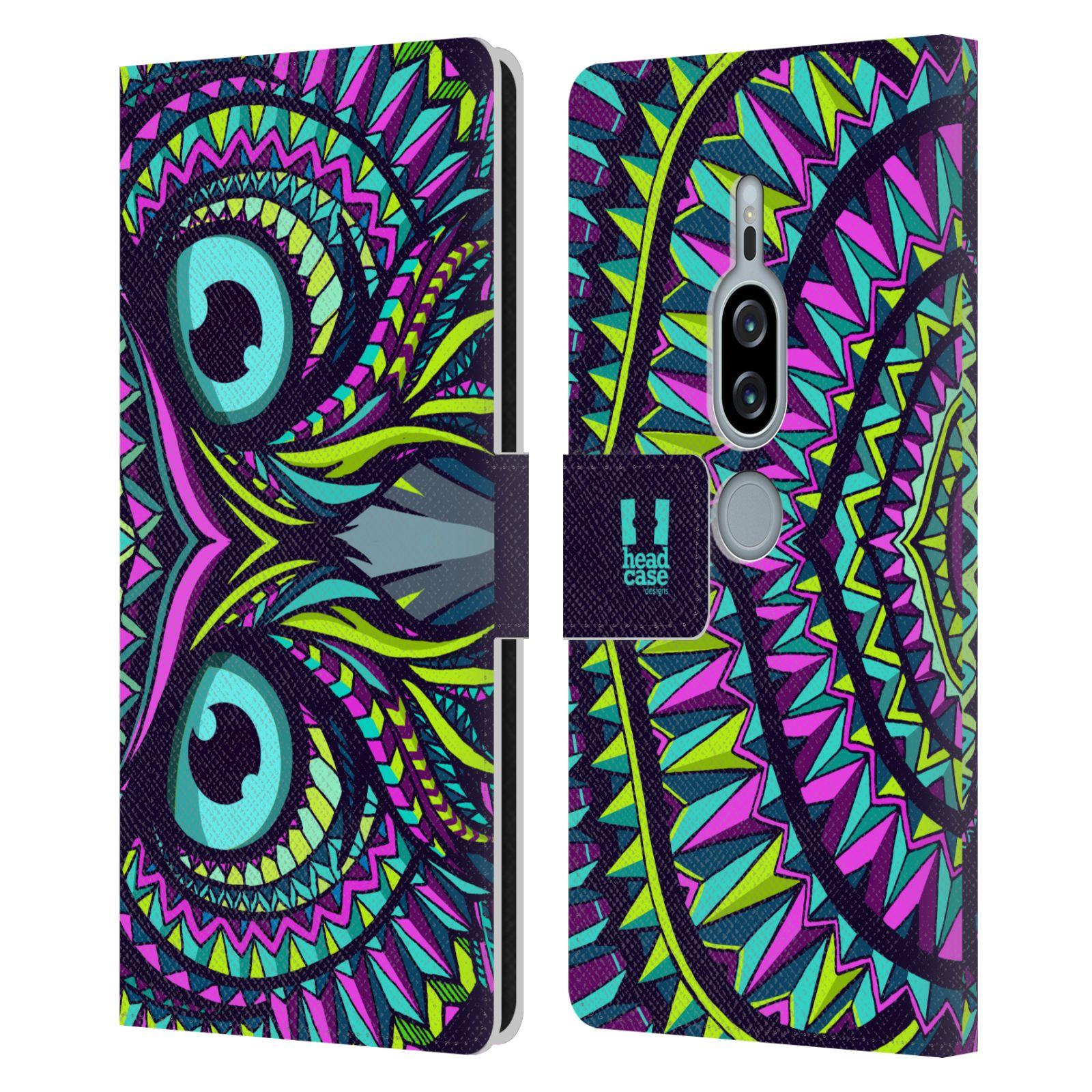 Pouzdro na mobil Sony Xperia XZ2 Premium - Head Case - Aztécký vzor sova