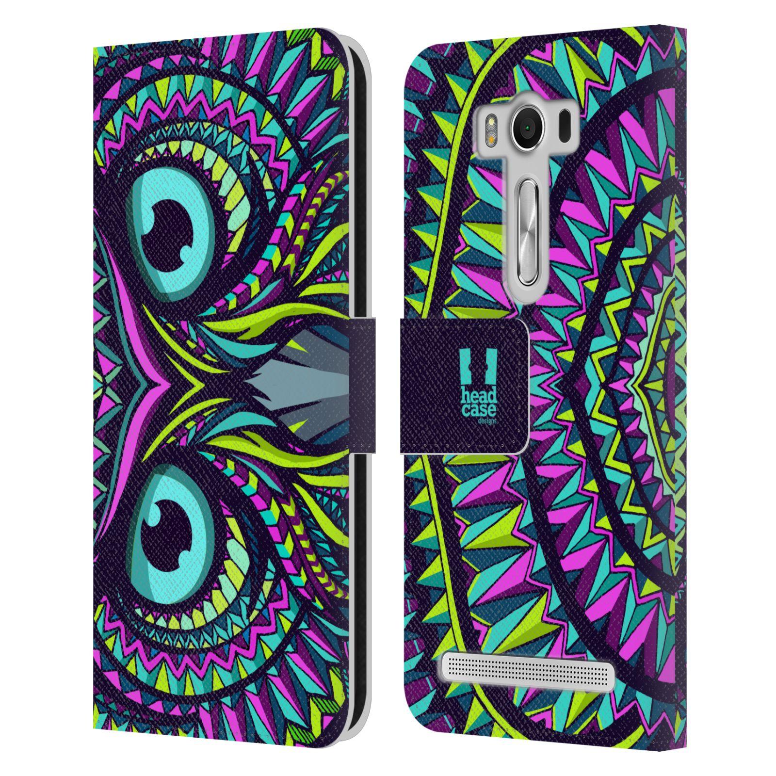 Pouzdro na mobil Asus Zenfone 2 Laser ZE500KL - Head Case - Aztécký vzor sova