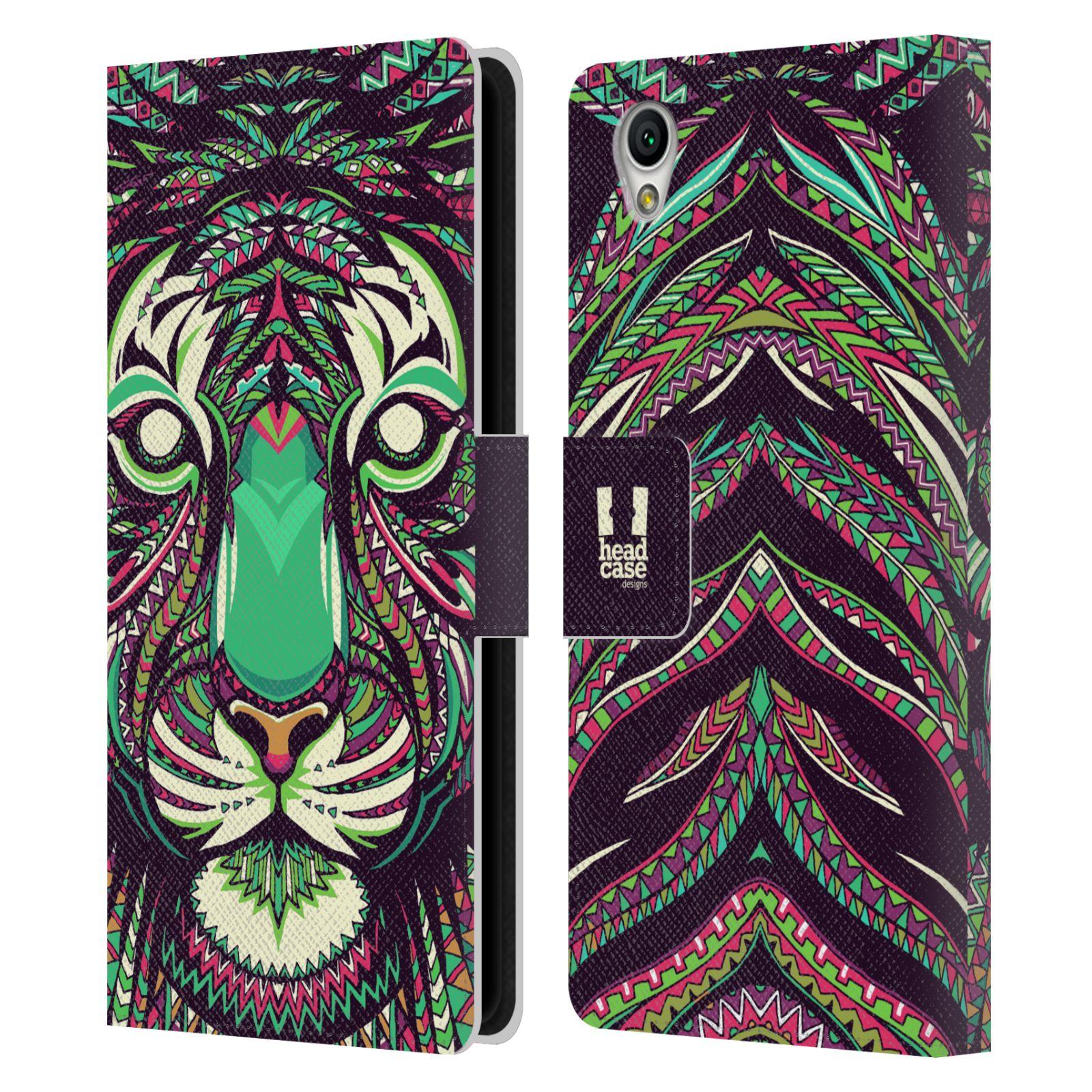 Pouzdro na mobil Sony Xperia L1 - Head Case - Aztécký vzor tygr