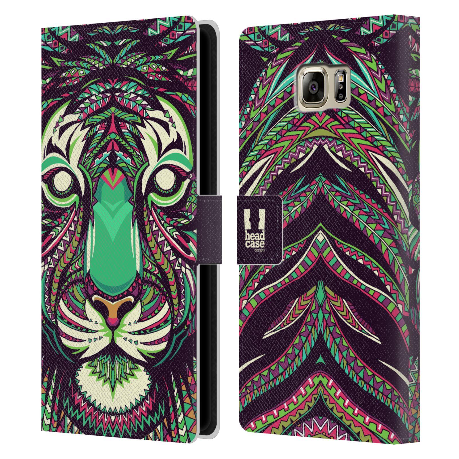 Pouzdro na mobil Samsung Galaxy NOTE 5 - Head Case - Aztécký vzor tygr
