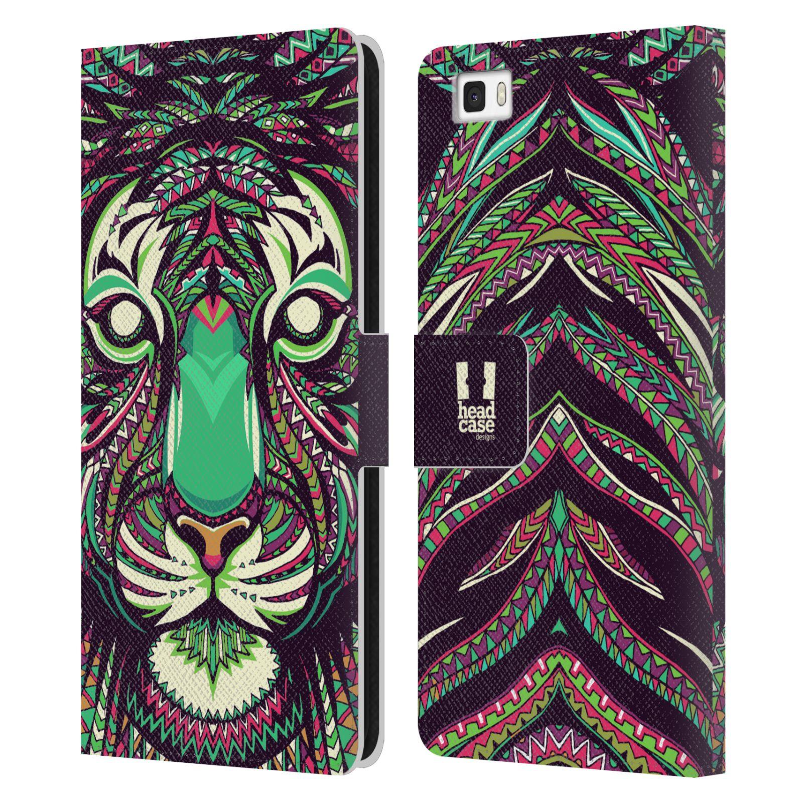 Pouzdro na mobil Huawei P8 Lite - Head Case - Aztécký vzor tygr