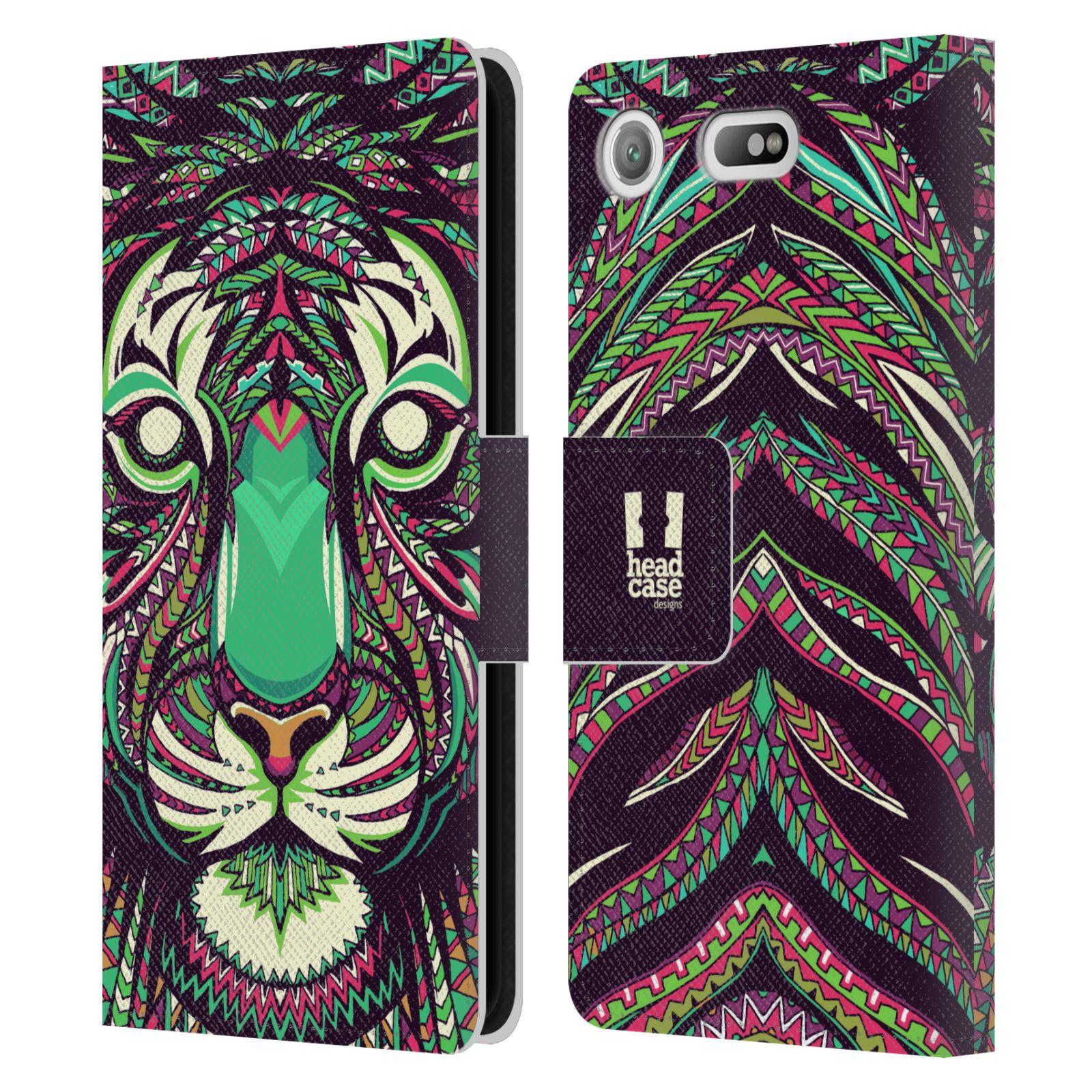 Pouzdro na mobil Sony Xperia XZ1 Compact - Head Case - Aztécký vzor tygr