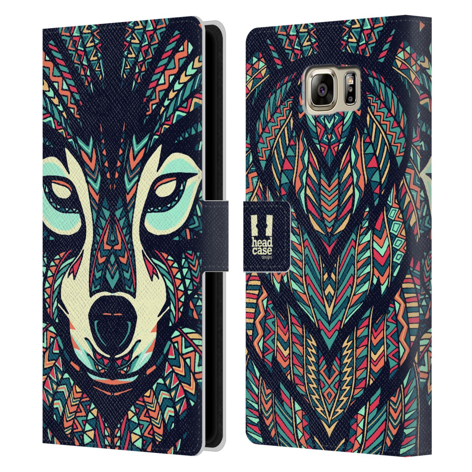 Pouzdro na mobil Samsung Galaxy NOTE 5 - Head Case - Aztécký vlk