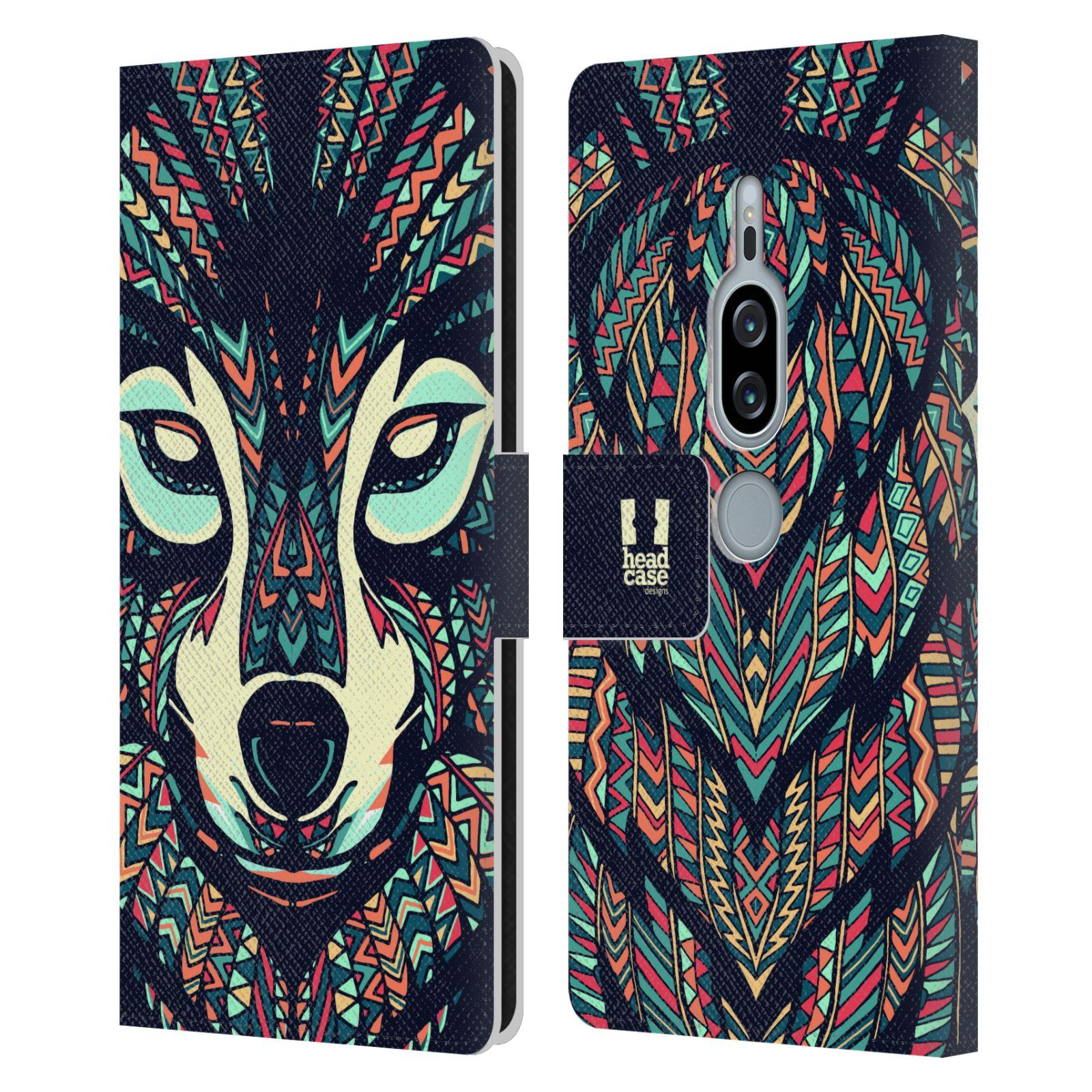 Pouzdro na mobil Sony Xperia XZ2 Premium - Head Case - Aztécký vlk