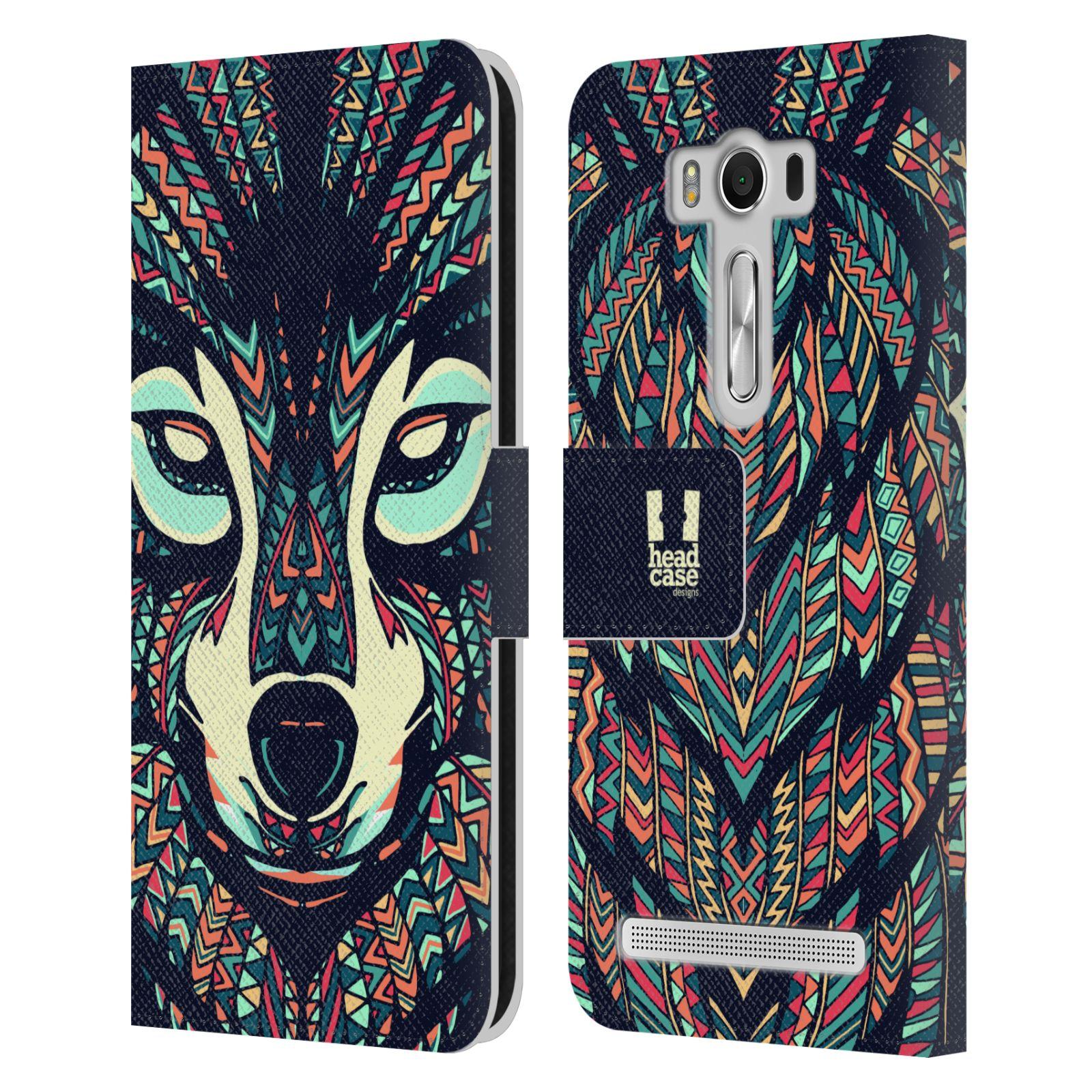 Pouzdro na mobil Asus Zenfone 2 Laser ZE500KL - Head Case - Aztécký vlk