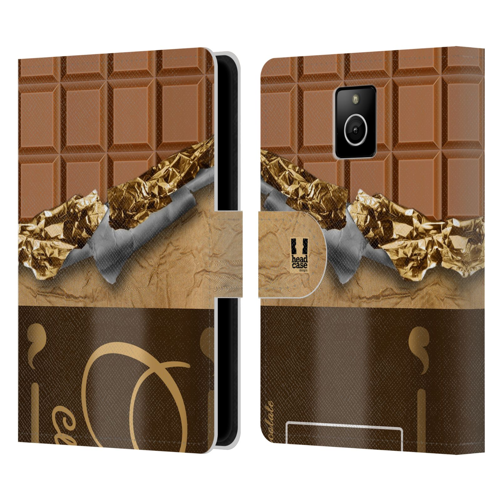 Head case designs chocolaty leather book wallet case for for Case design