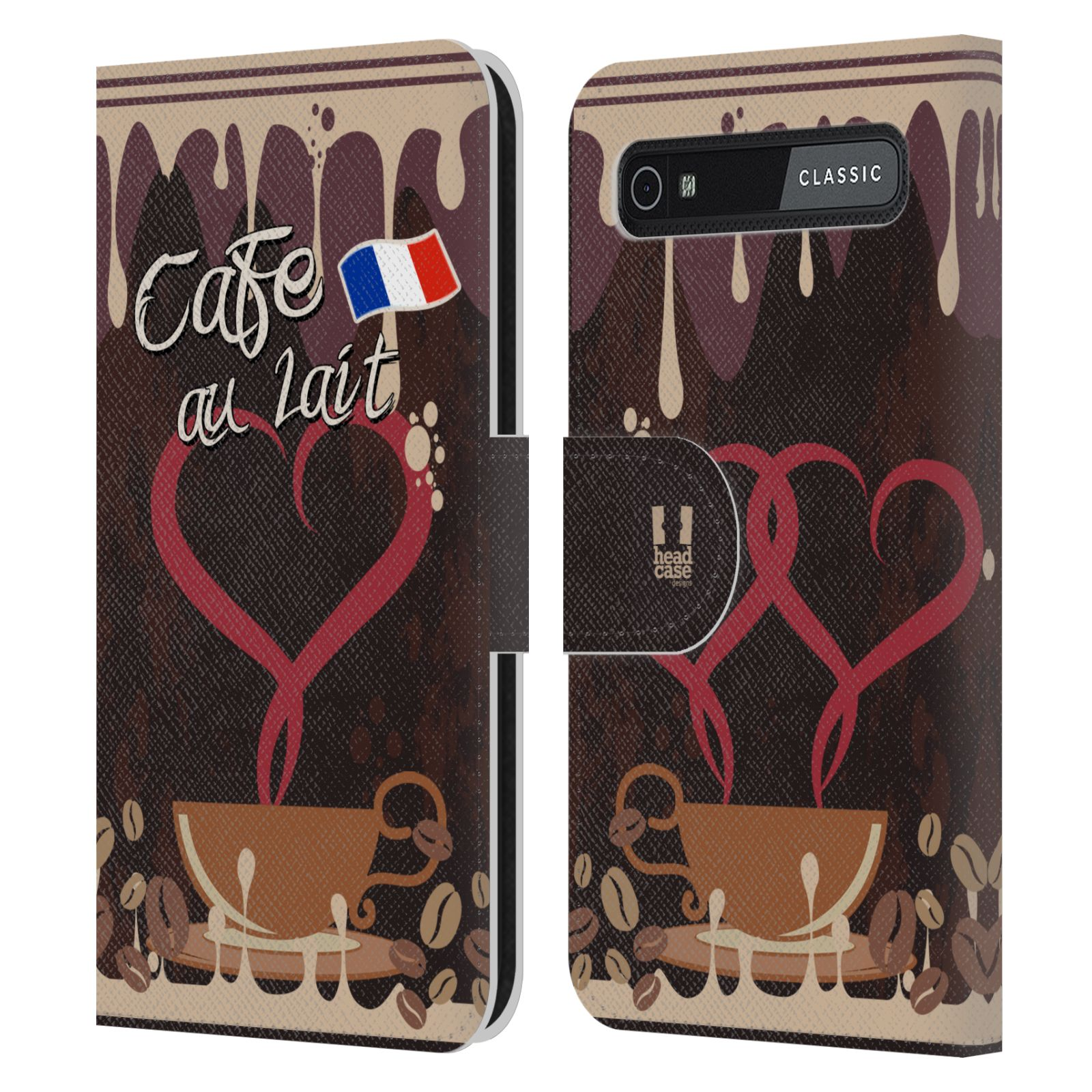 Book Cover Black Berry : Coffee addicts leather book wallet case cover for
