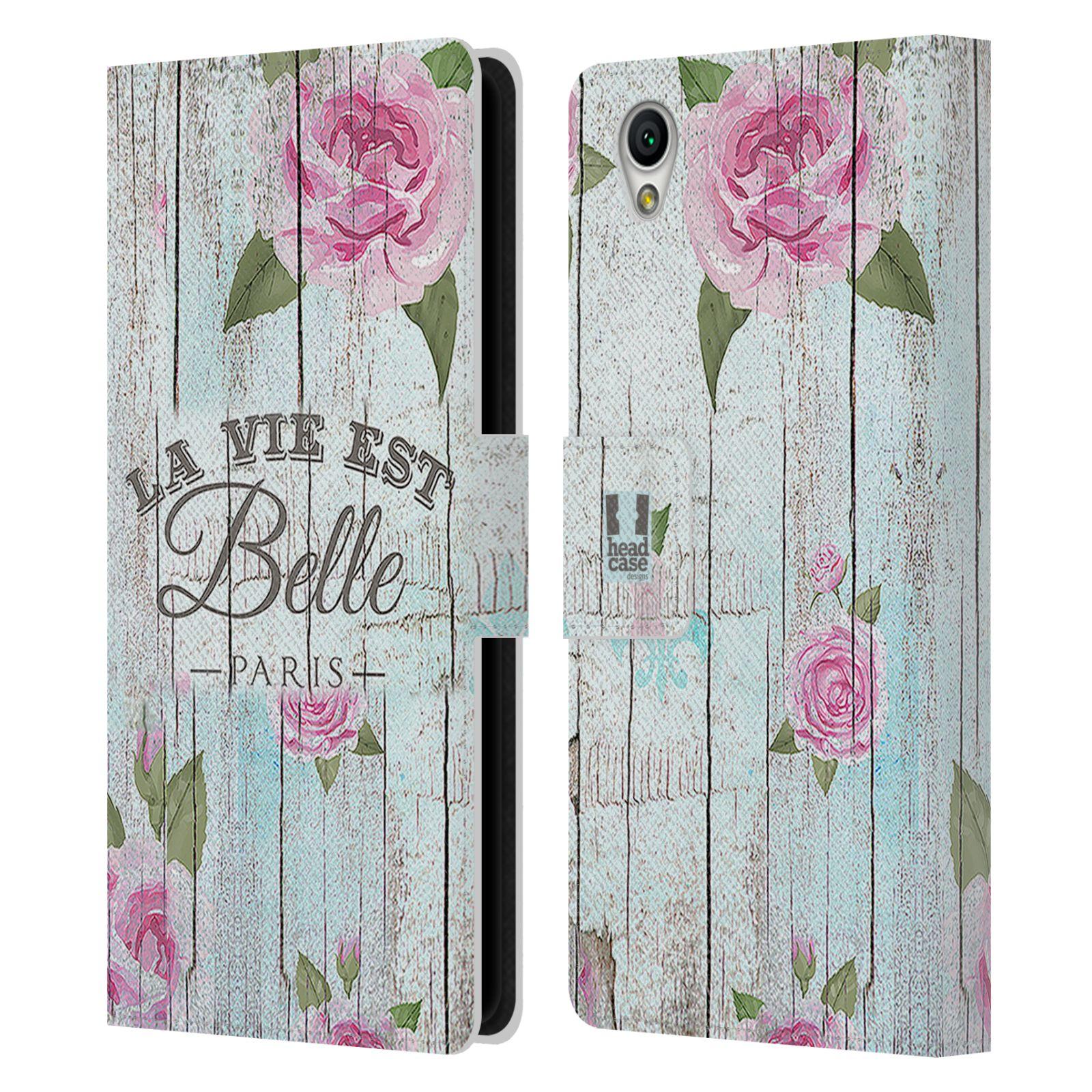 Pouzdro na mobil Sony Xperia L1 - Head Case - květinový motiv růže na plotě
