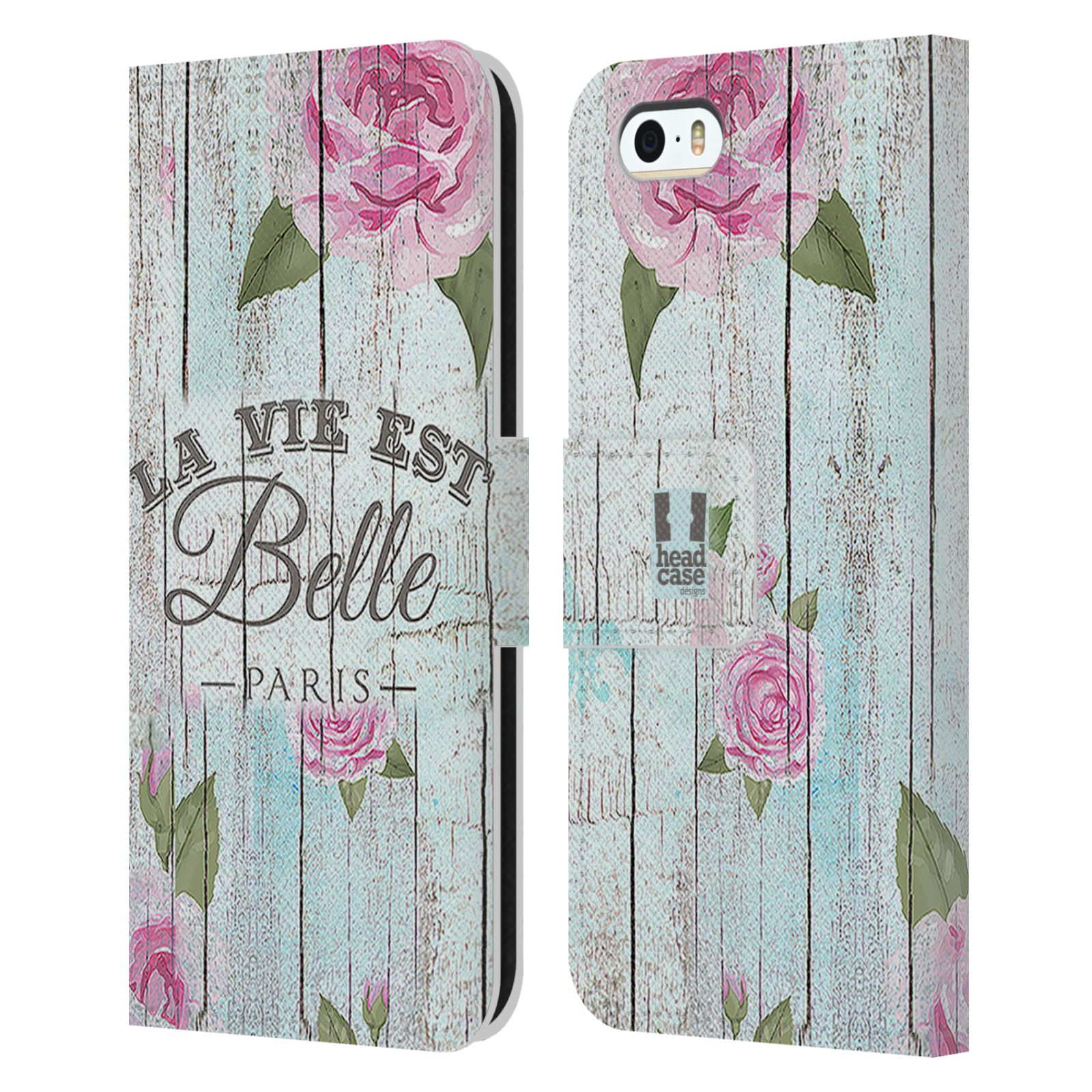 Pouzdro na mobil Apple Iphone 5 / 5S - Head Case - květinový motiv růže na plotě
