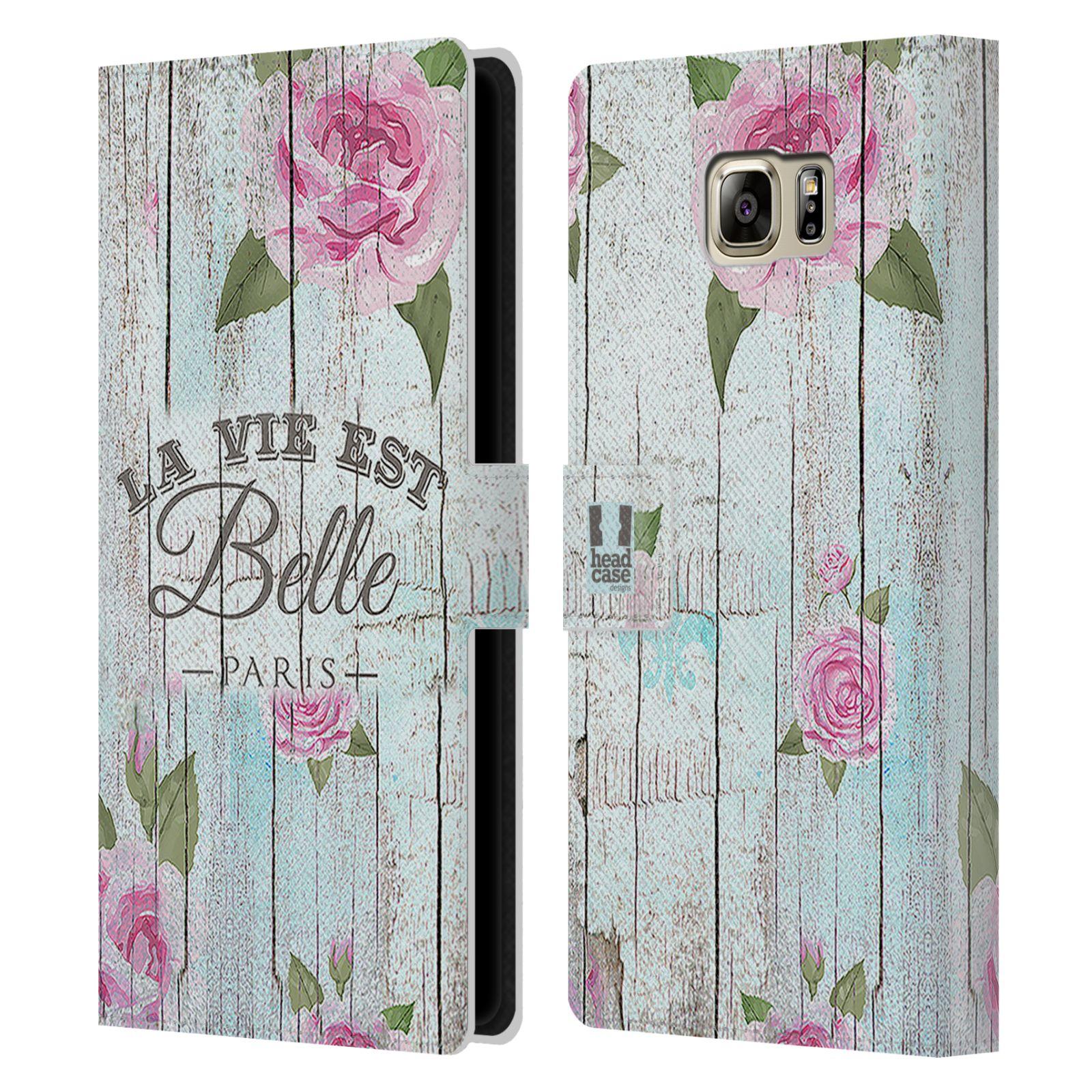Pouzdro na mobil Samsung Galaxy NOTE 5 - Head Case - květinový motiv růže na plotě