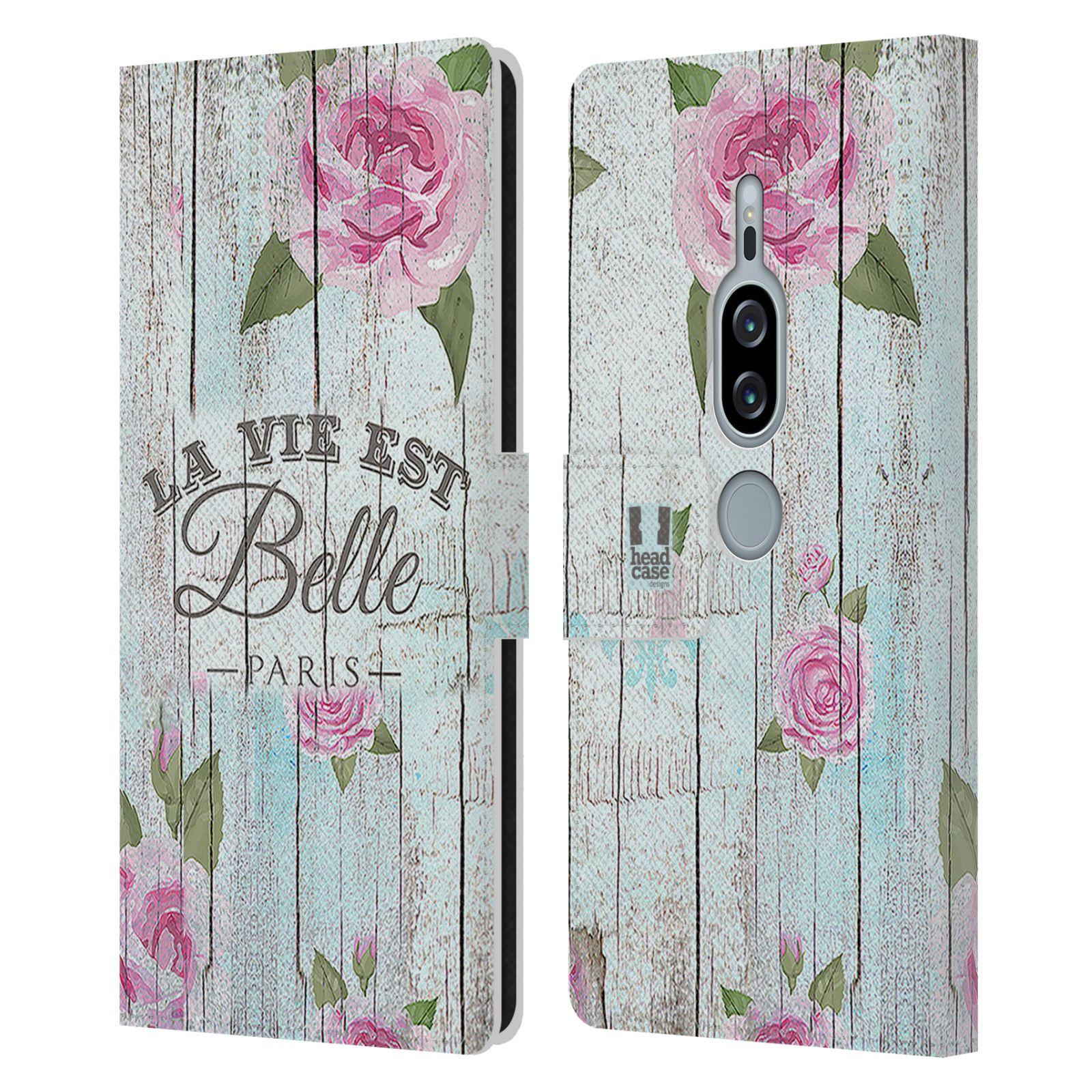 Pouzdro na mobil Sony Xperia XZ2 Premium - Head Case - květinový motiv růže na plotě