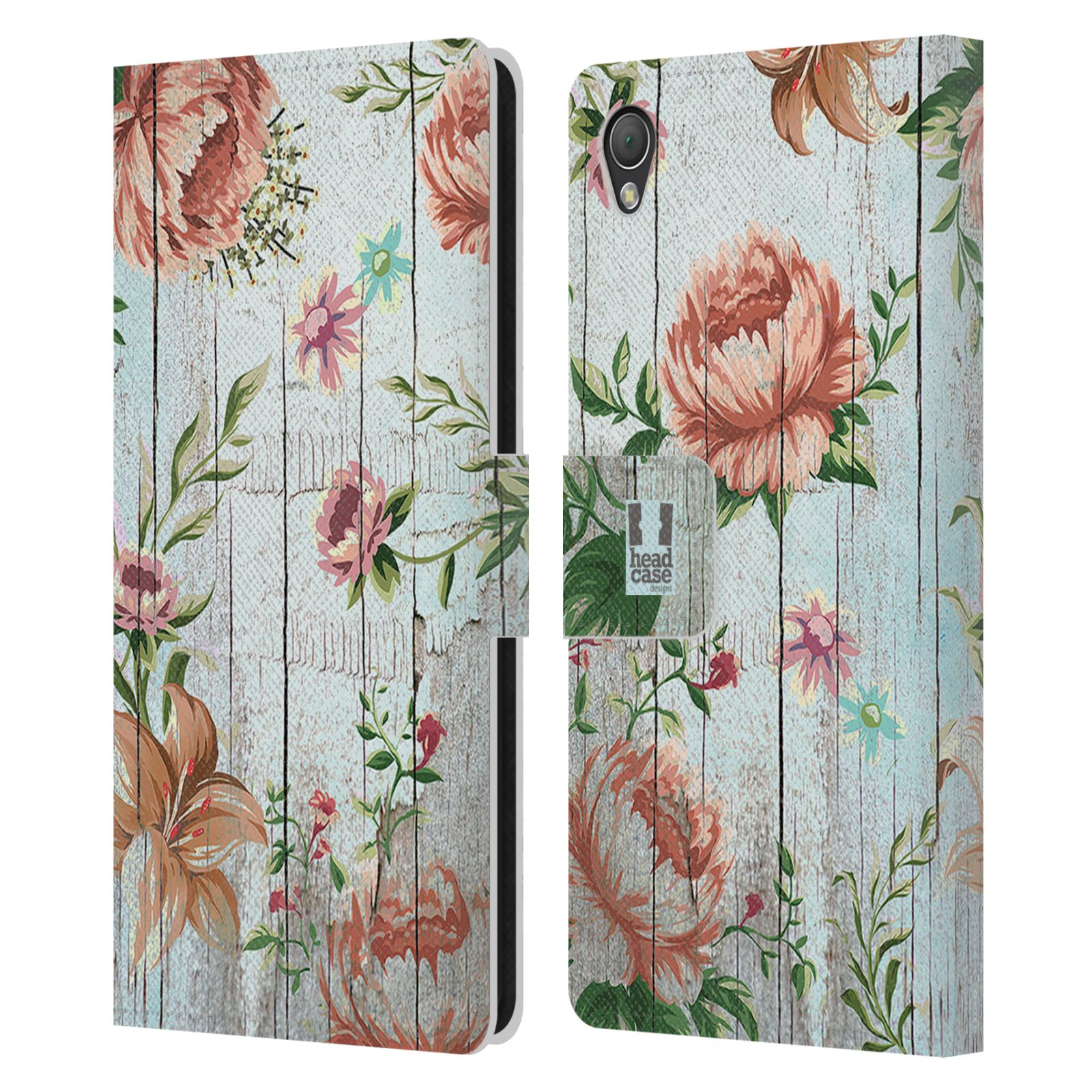 HEAD CASE DESIGNS COUNTRY CHARM LEATHER BOOK WALLET CASE COVER FOR SONY PHONES 1