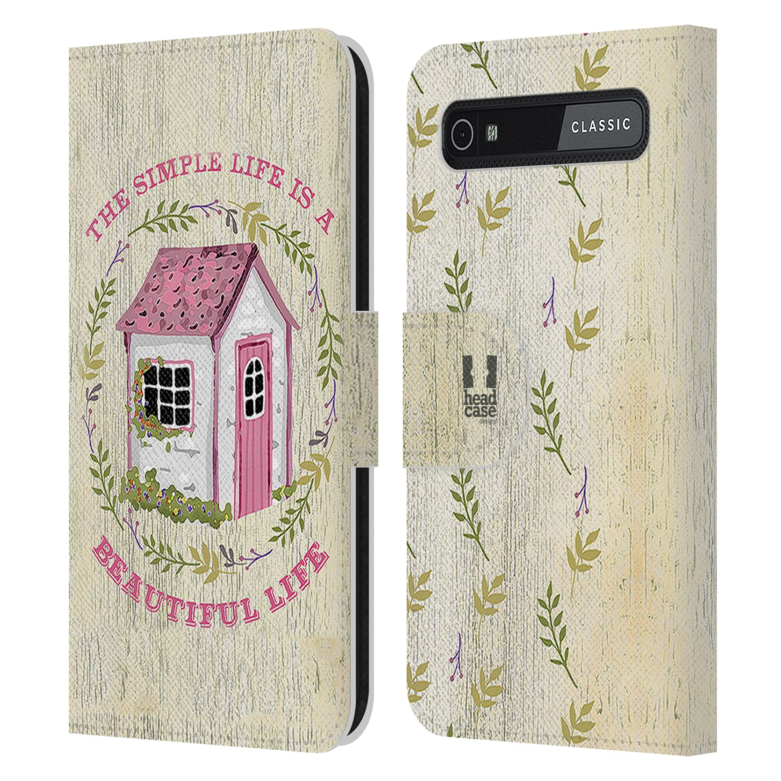 Book Cover Black Berry : Country charm leather book wallet case cover for