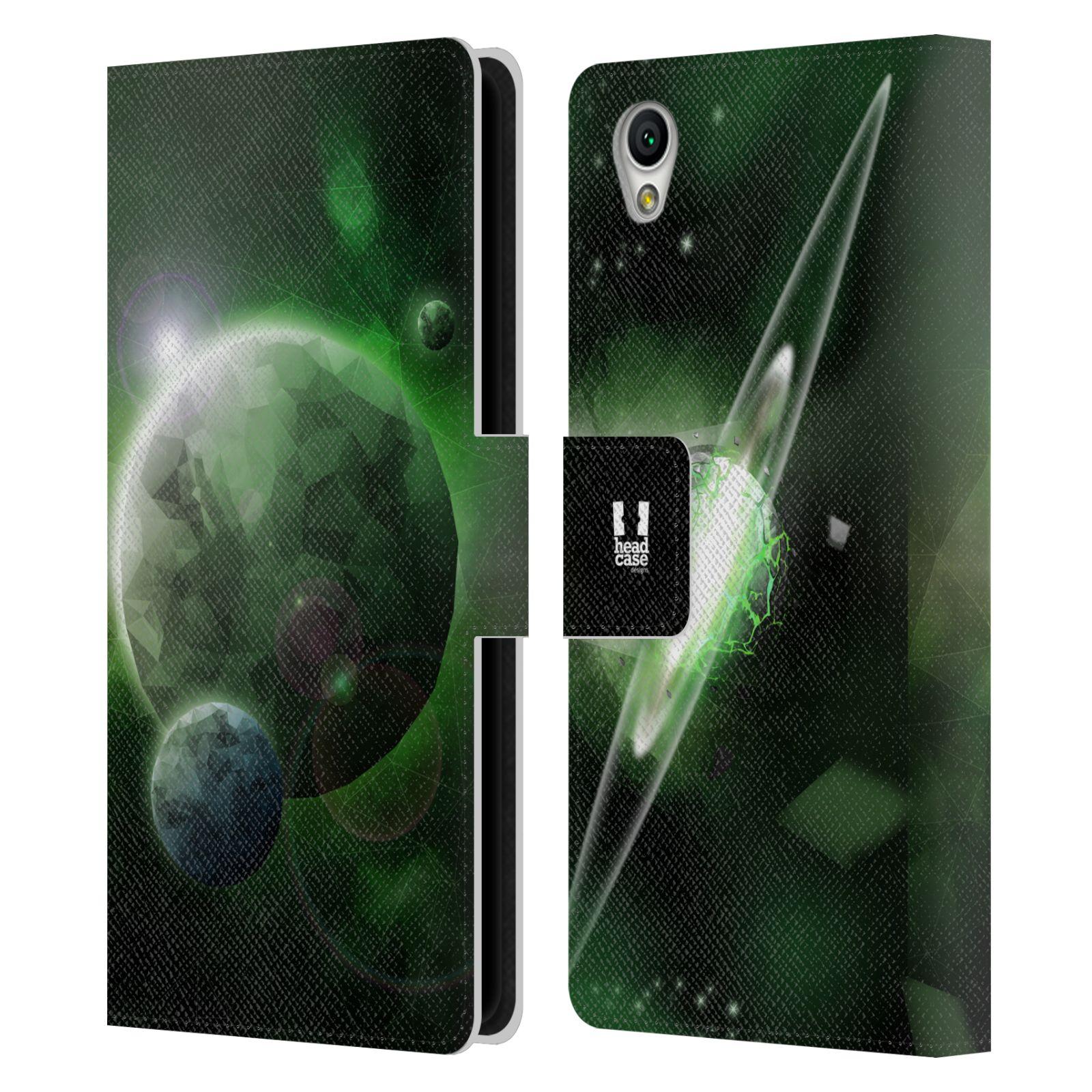 Pouzdro na mobil Sony Xperia L1 - Head Case - planeta vesmír zelená