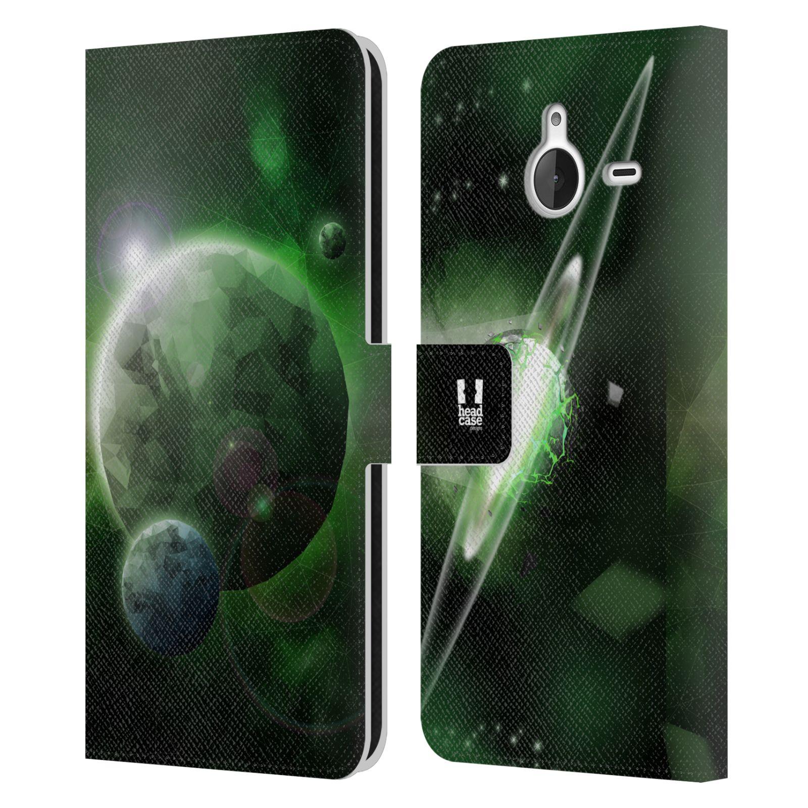 Pouzdro na mobil Nokia Lumia 640 XL - Head Case - planeta vesmír zelená