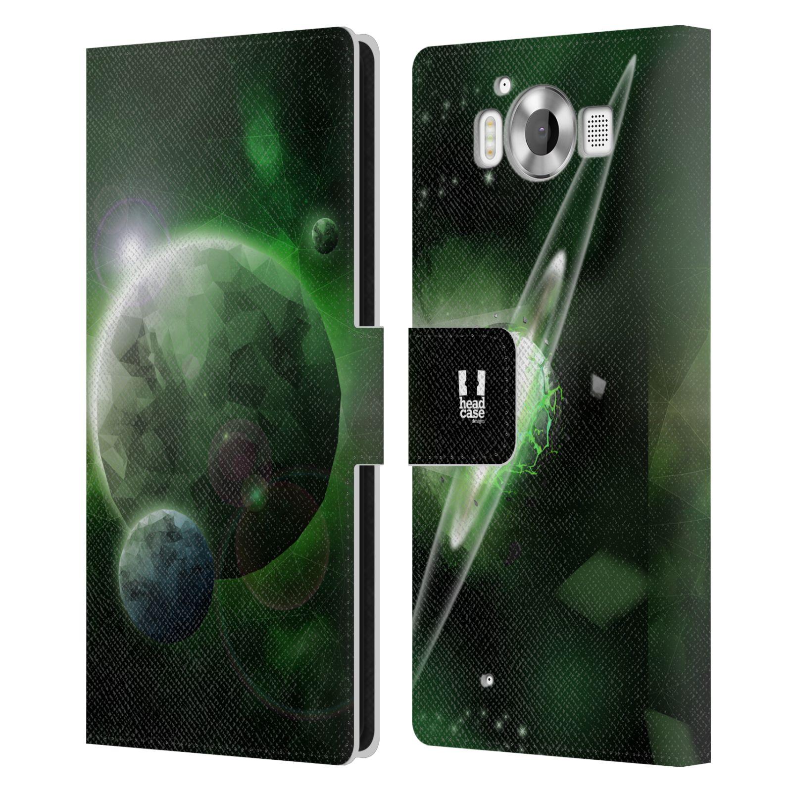 Pouzdro na mobil Nokia Lumia 950 - Head Case - planeta vesmír zelená