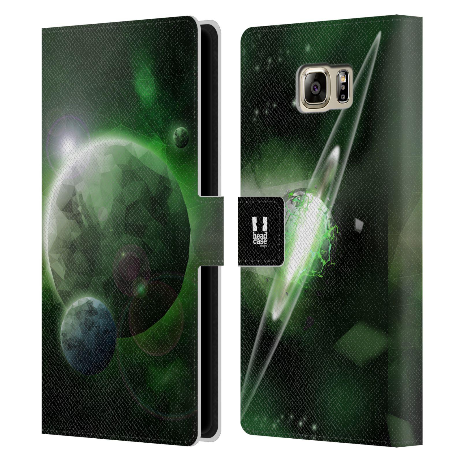 Pouzdro na mobil Samsung Galaxy NOTE 5 - Head Case - planeta vesmír zelená