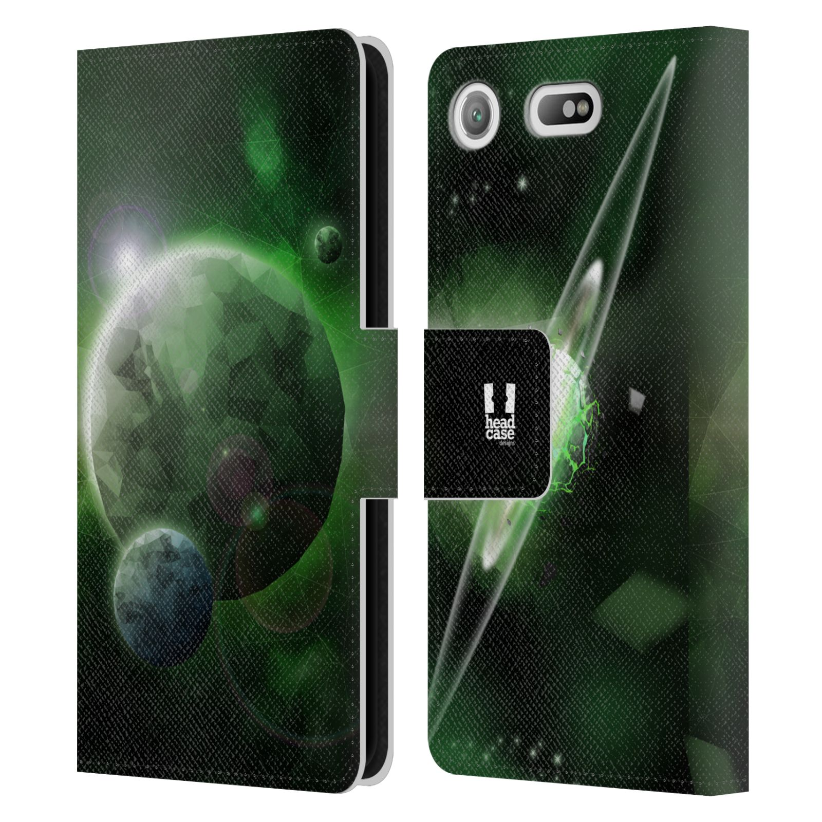 Pouzdro na mobil Sony Xperia XZ1 Compact - Head Case - planeta vesmír zelená
