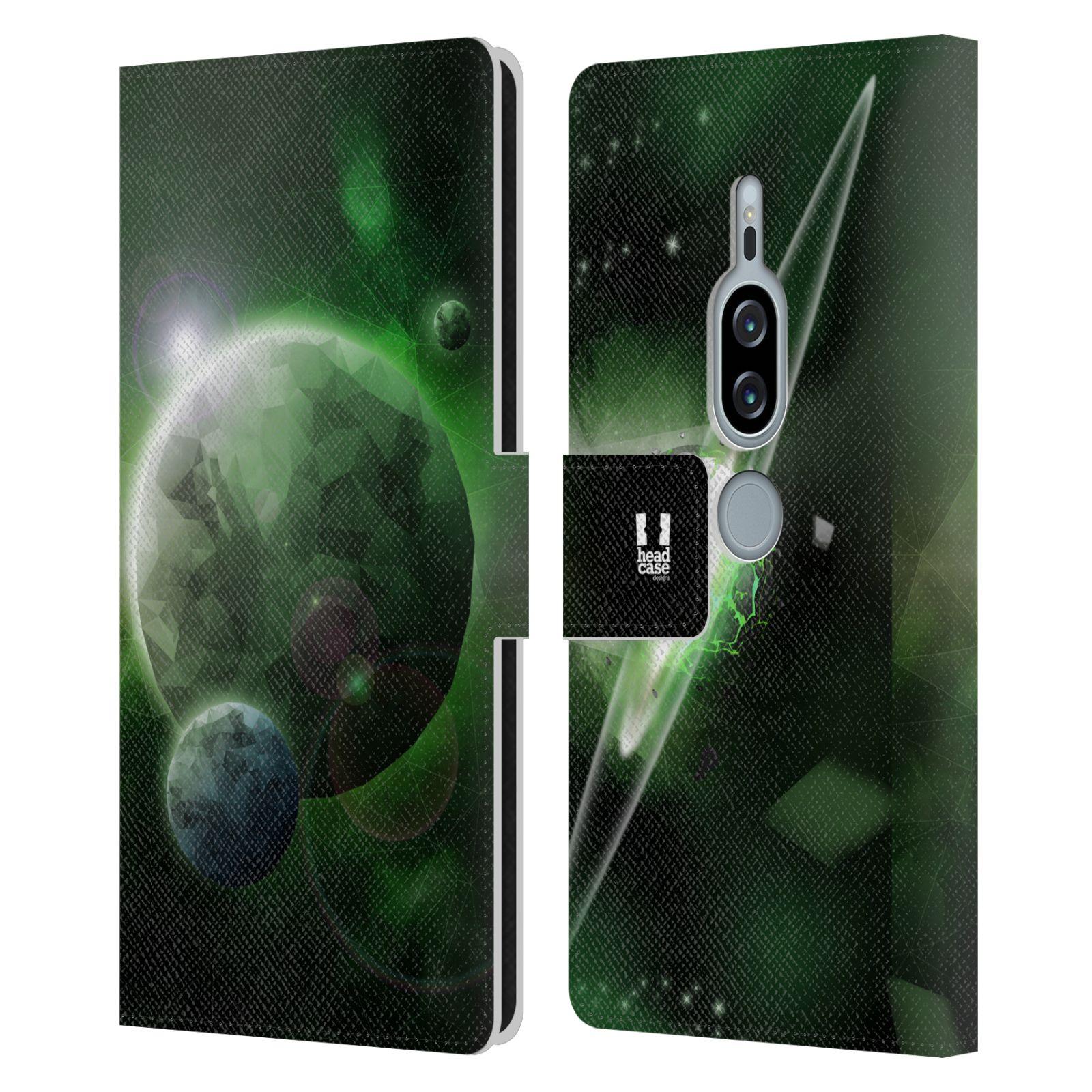 Pouzdro na mobil Sony Xperia XZ2 Premium - Head Case - planeta vesmír zelená