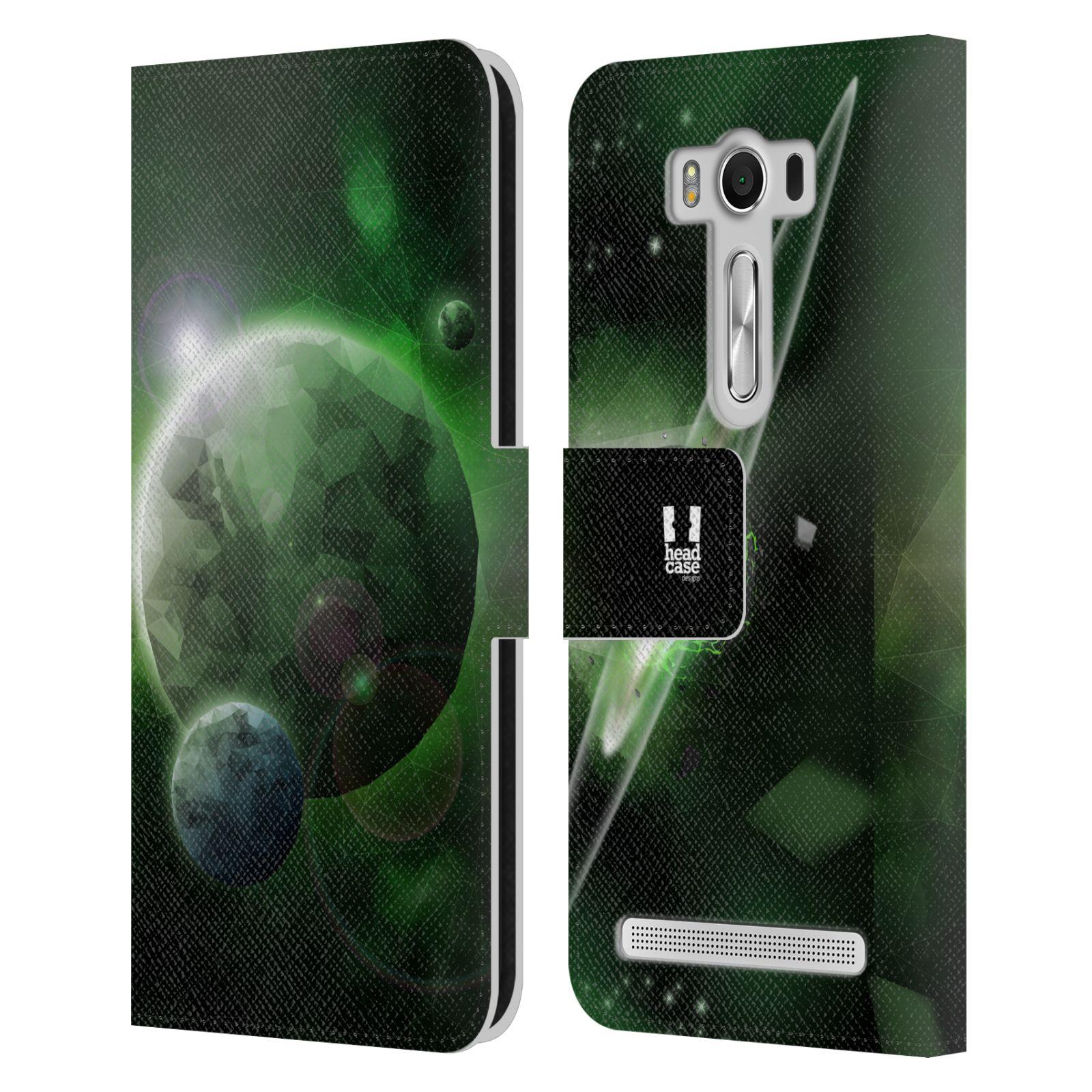 Pouzdro na mobil Asus Zenfone 2 Laser ZE500KL - Head Case - planeta vesmír zelená