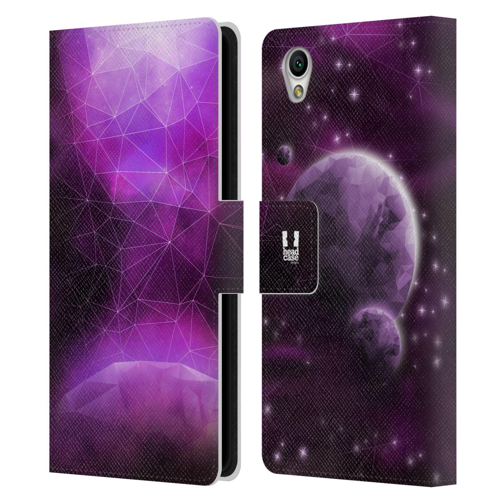 Pouzdro na mobil Sony Xperia L1 - Head Case - planeta vesmír fialová