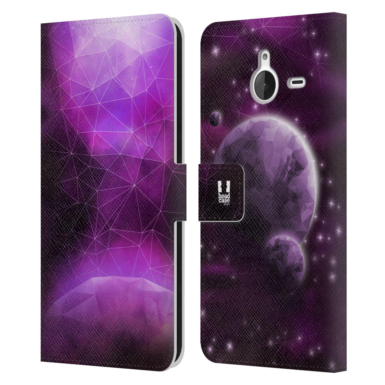 Pouzdro na mobil Nokia Lumia 640 XL - Head Case - planeta vesmír fialová