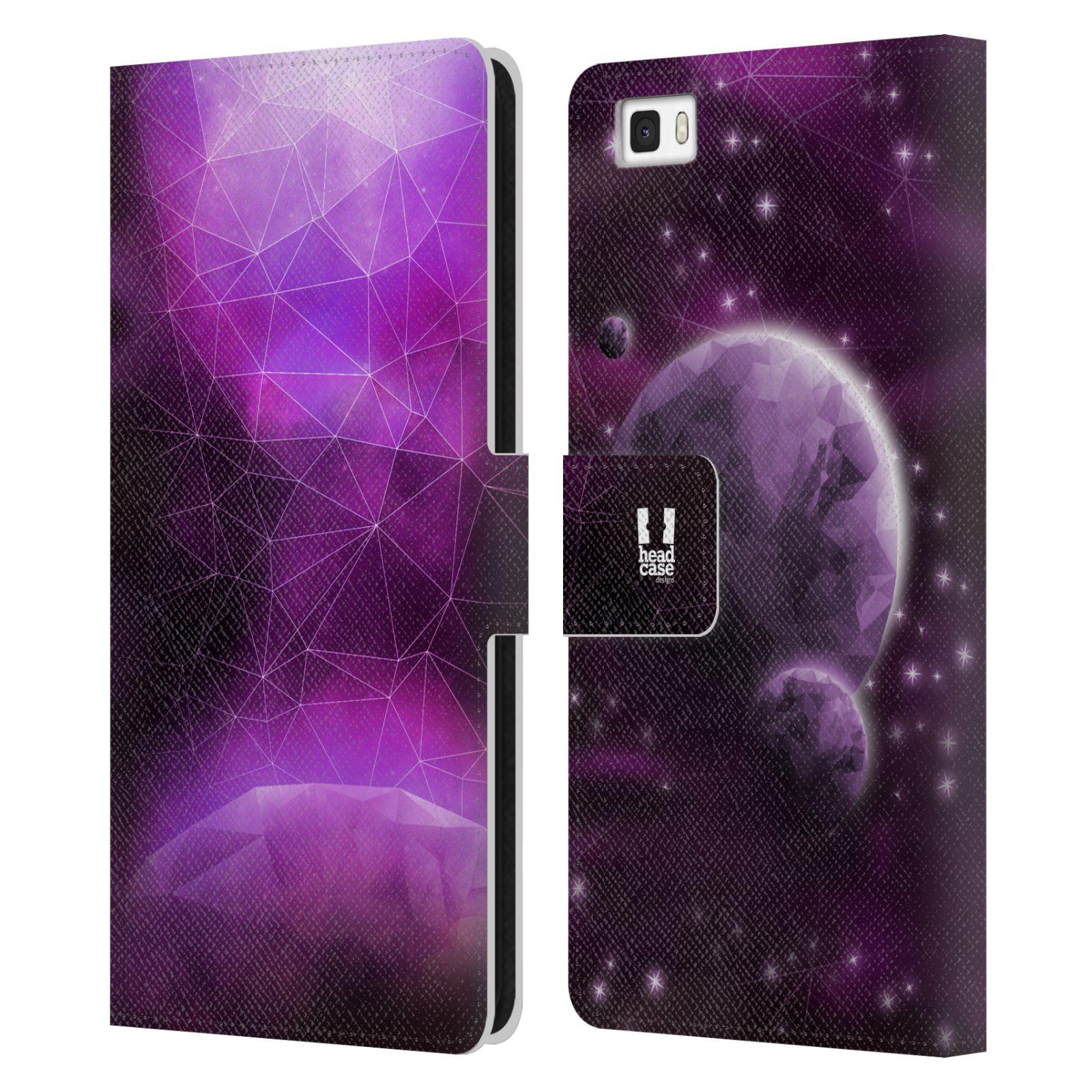 Pouzdro na mobil Huawei P8 Lite - Head Case - planeta vesmír fialová