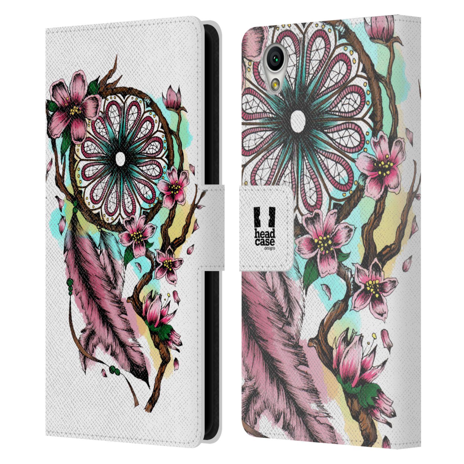Pouzdro na mobil Sony Xperia L1 - Head Case - Lapač snů květy fialová