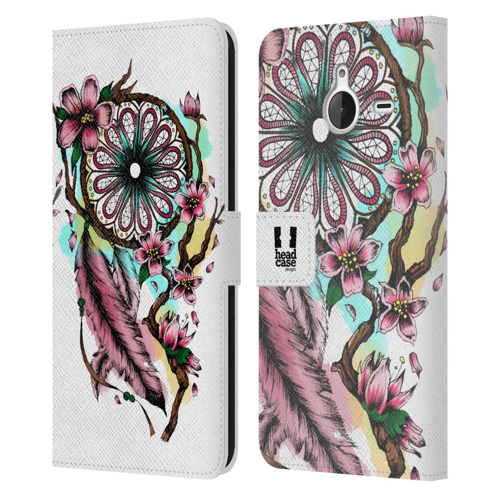 Pouzdro na mobil Nokia Lumia 640 XL - Head Case - Lapač snů květy fialová
