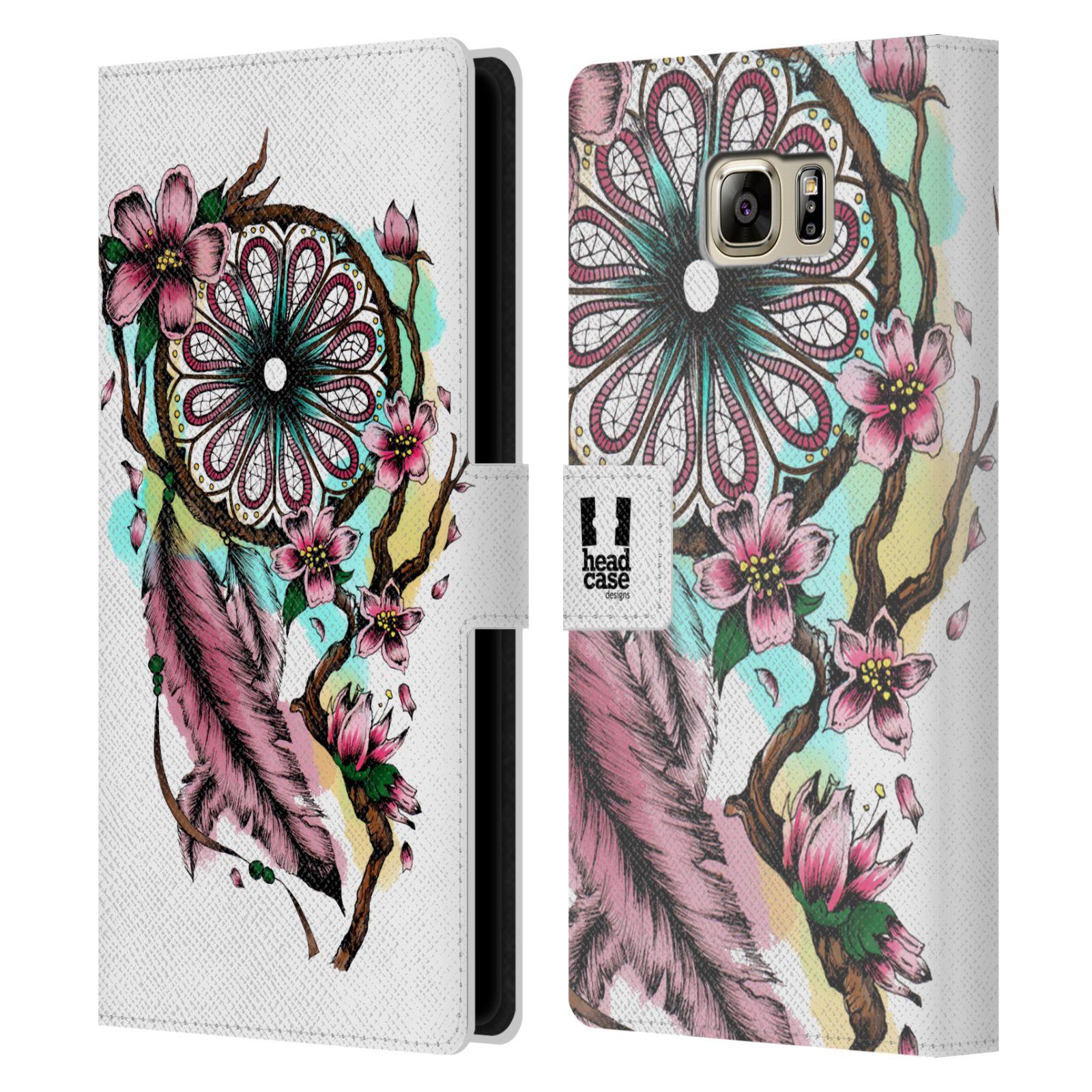 Pouzdro na mobil Samsung Galaxy NOTE 5 - Head Case - Lapač snů květy fialová