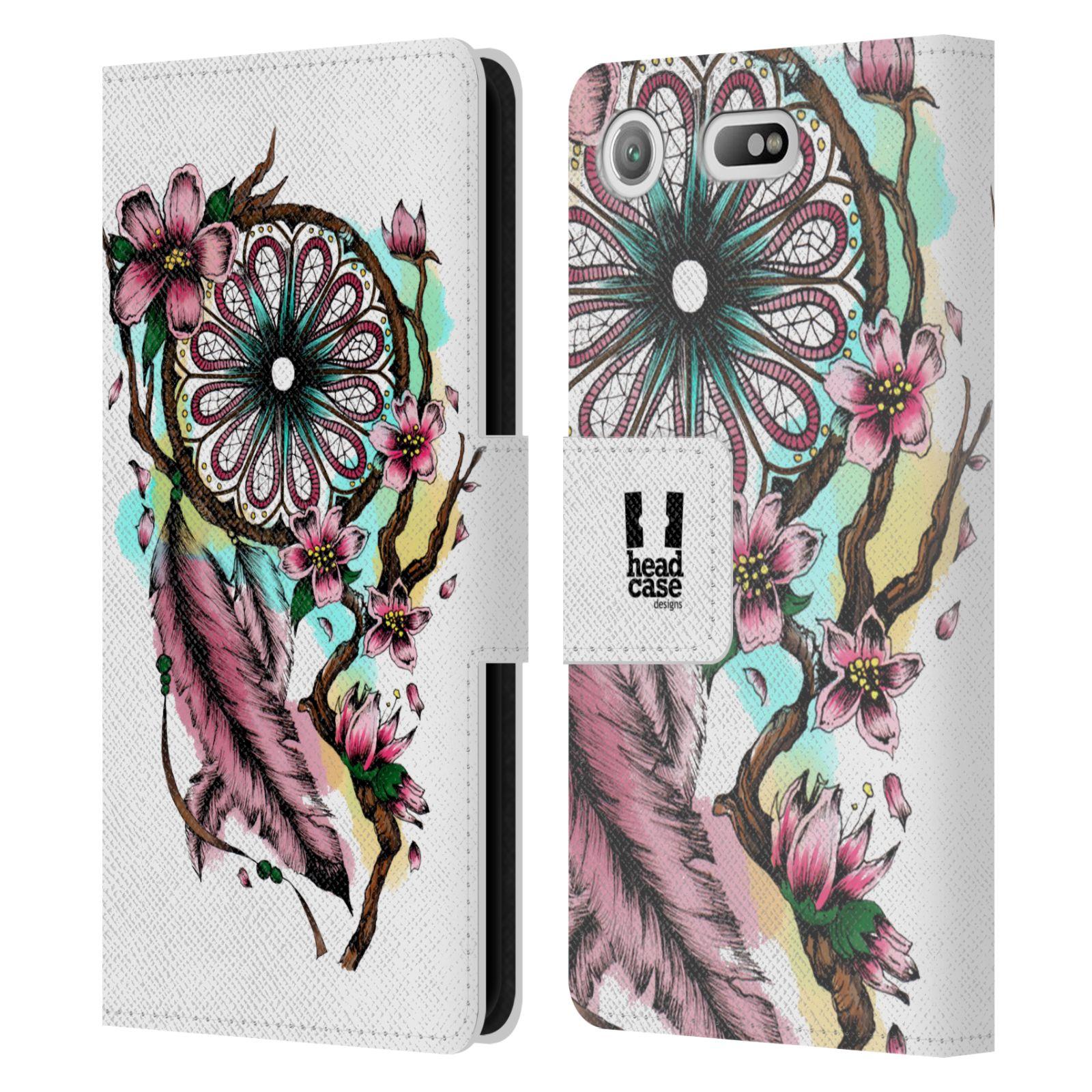 Pouzdro na mobil Sony Xperia XZ1 Compact - Head Case - Lapač snů květy fialová