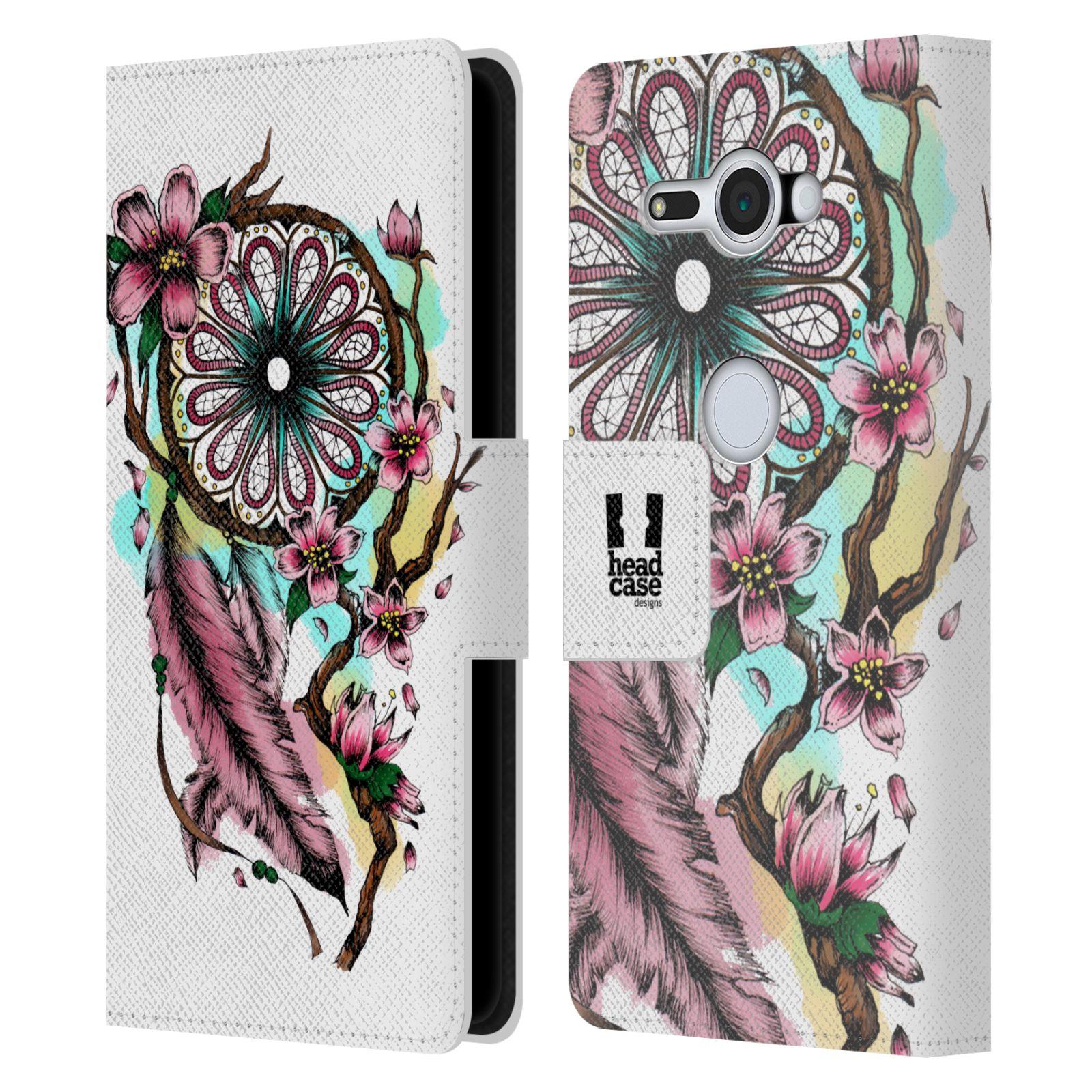 Pouzdro na mobil Sony Xperia XZ2 Compact - Head Case - Lapač snů květy fialová