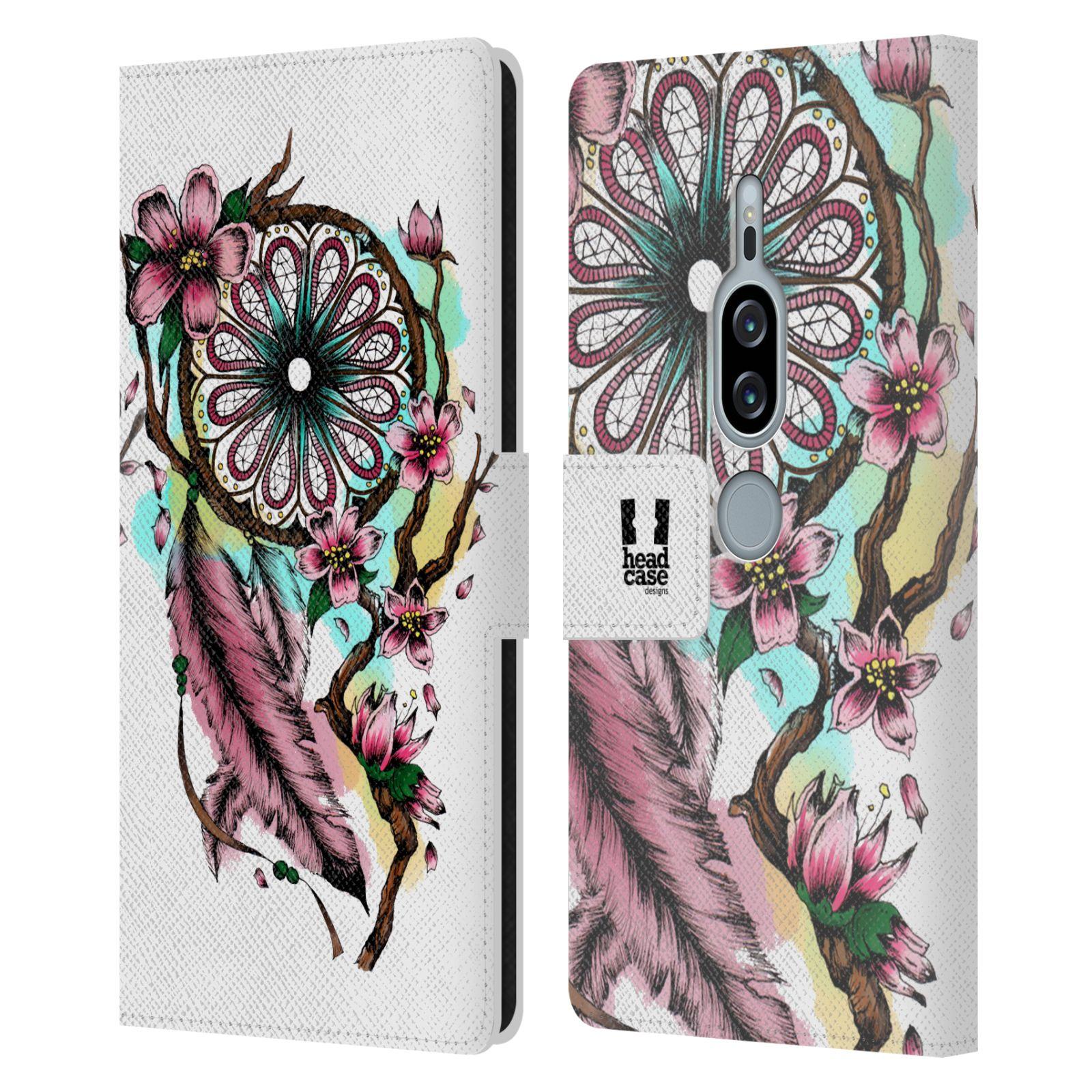 Pouzdro na mobil Sony Xperia XZ2 Premium - Head Case - Lapač snů květy fialová