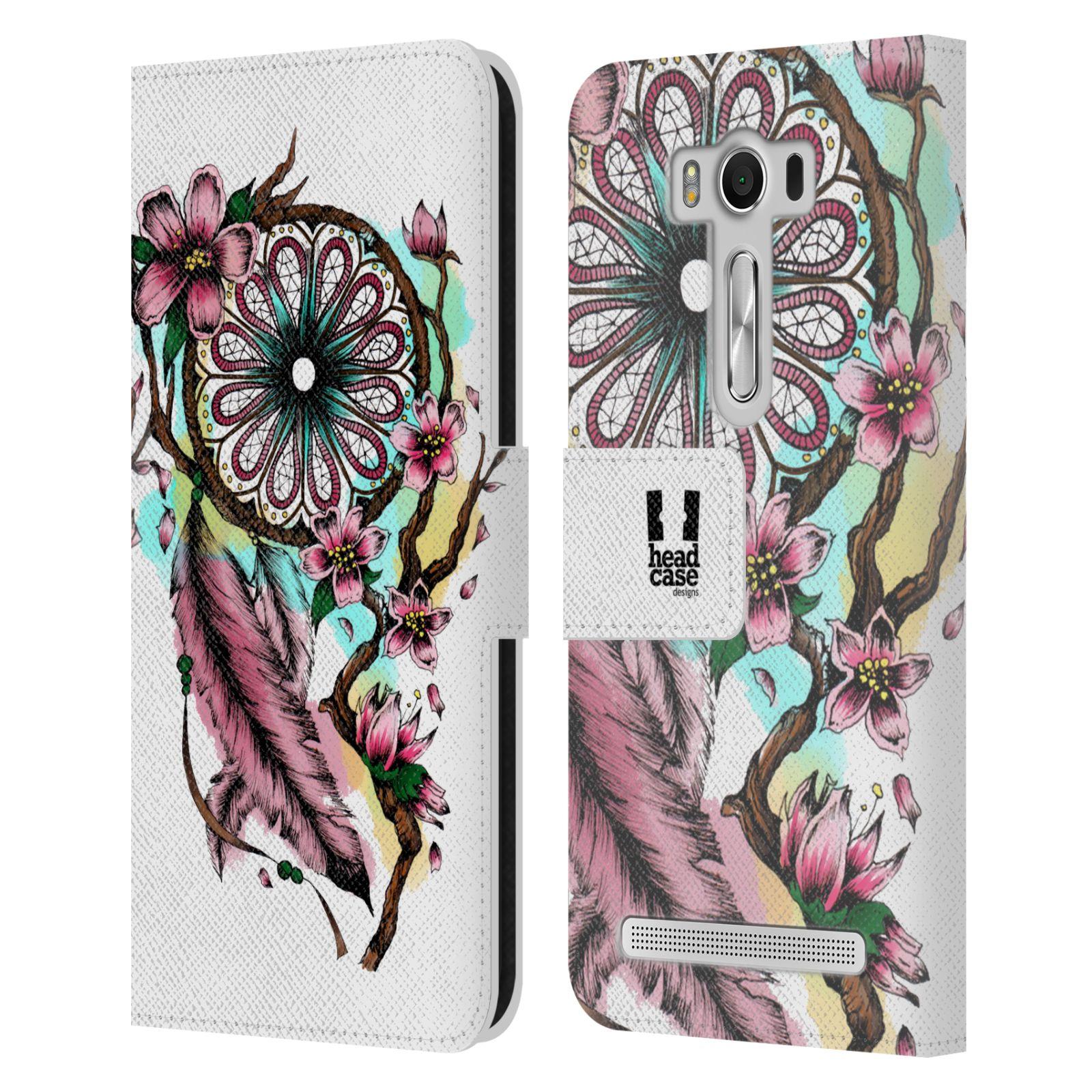 Pouzdro na mobil Asus Zenfone 2 Laser ZE500KL - Head Case - Lapač snů květy fialová