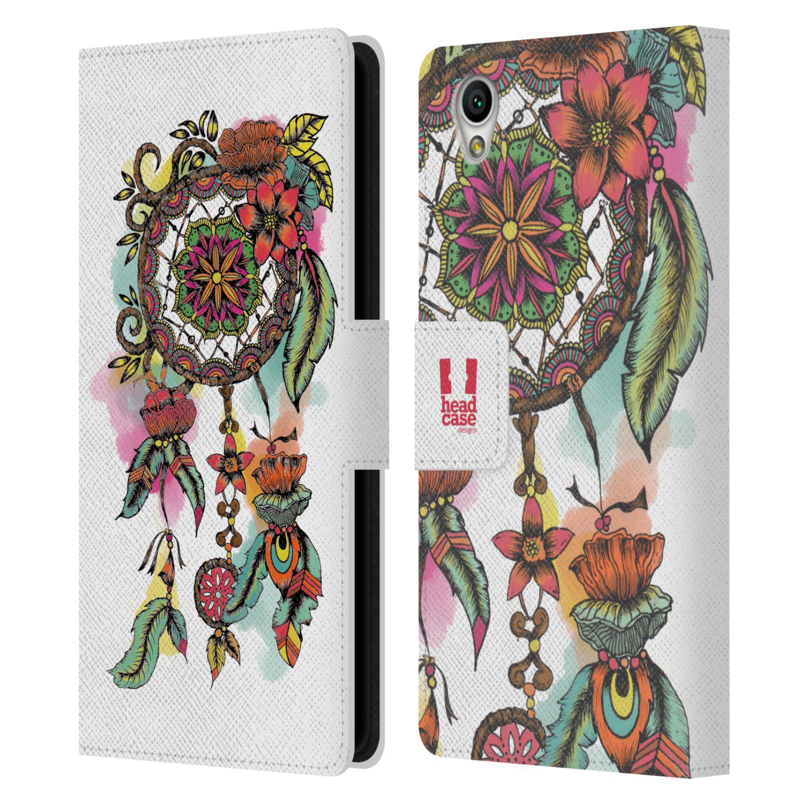 Pouzdro na mobil Sony Xperia L1 - Head Case - Lapač snů květy červená
