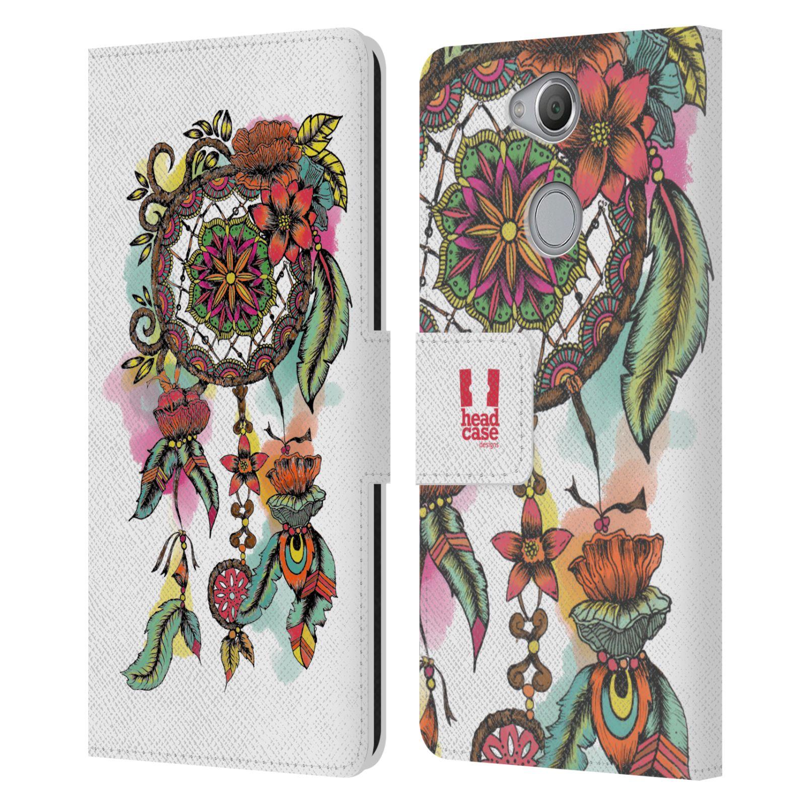 Pouzdro na mobil Sony Xperia XA2 - Head Case - Lapač snů květy červená
