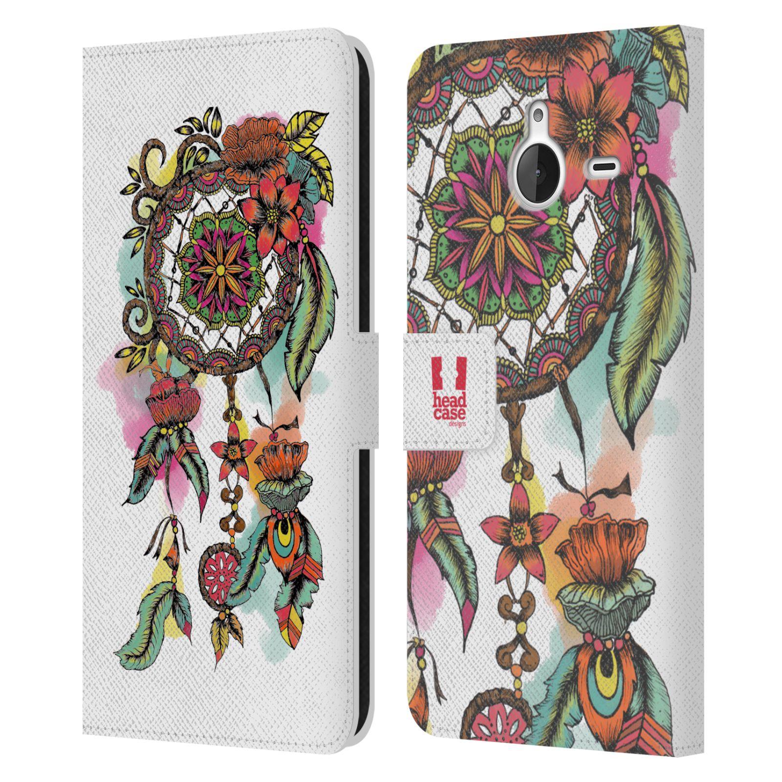 Pouzdro na mobil Nokia Lumia 640 XL - Head Case - Lapač snů květy červená