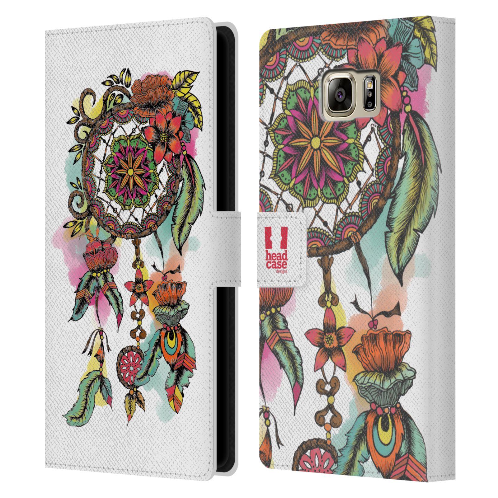 Pouzdro na mobil Samsung Galaxy NOTE 5 - Head Case - Lapač snů květy červená